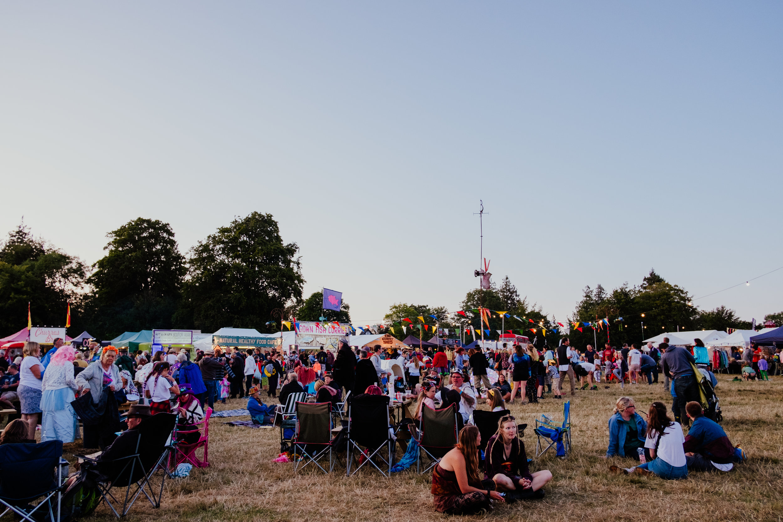 Larmer Tree Festival 2019 at sunset