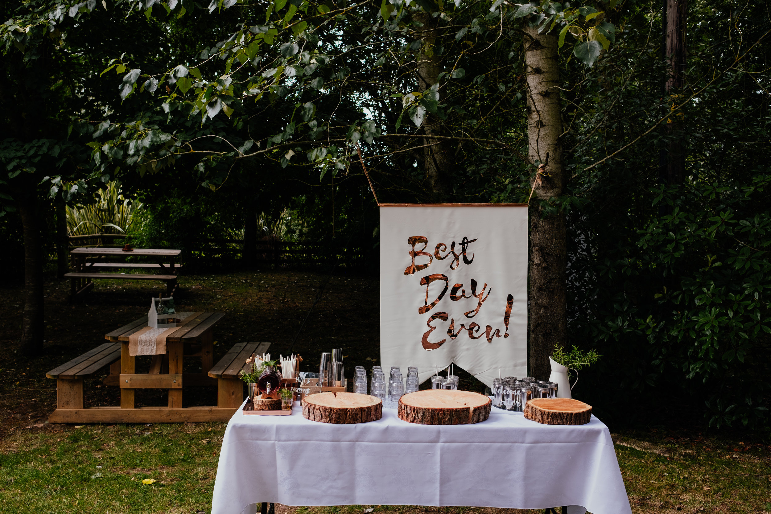 Rumbolds Farm Wedding best day ever sign