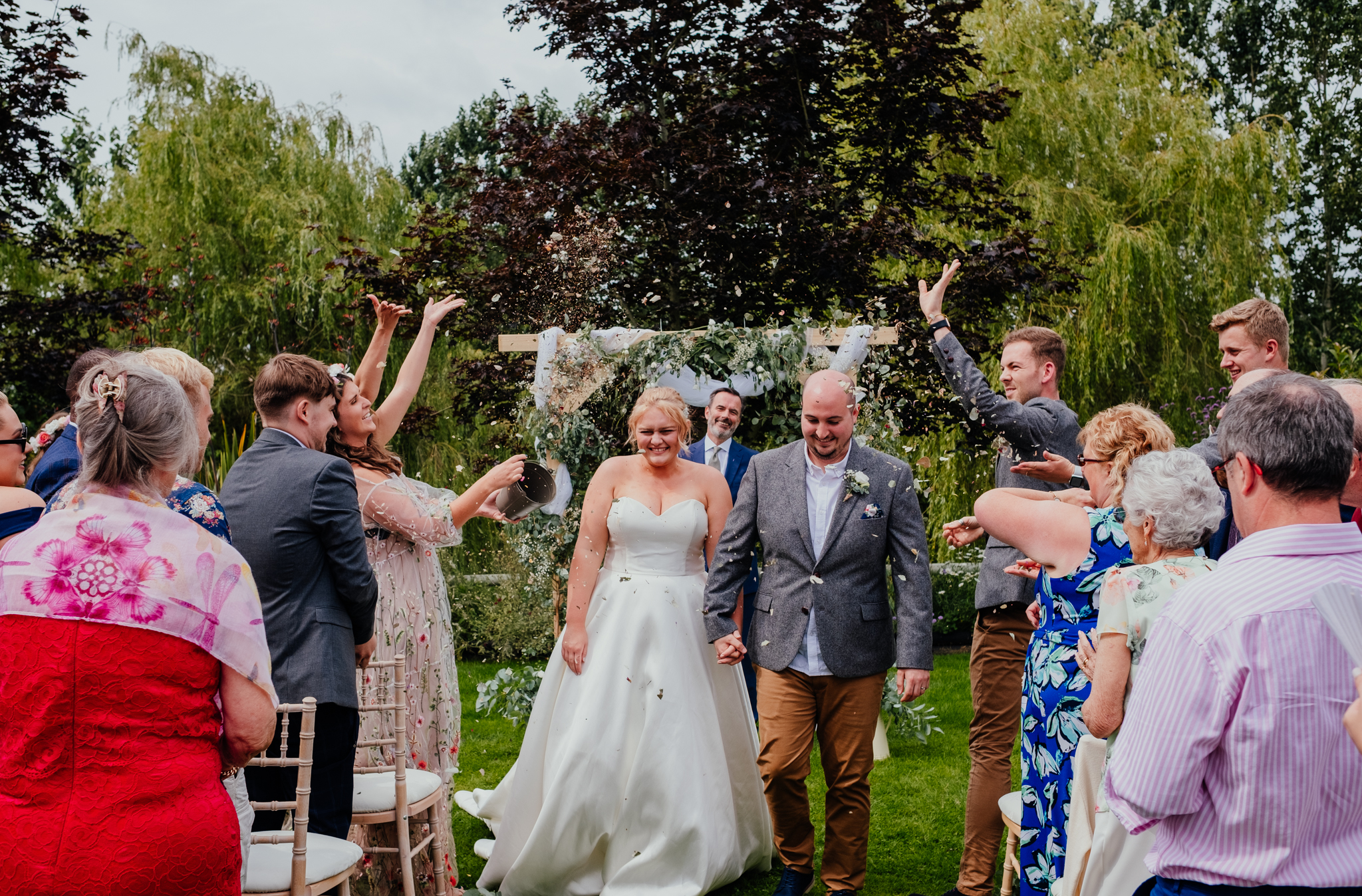 Confetti at Rumbolds Farm outdoor wedding