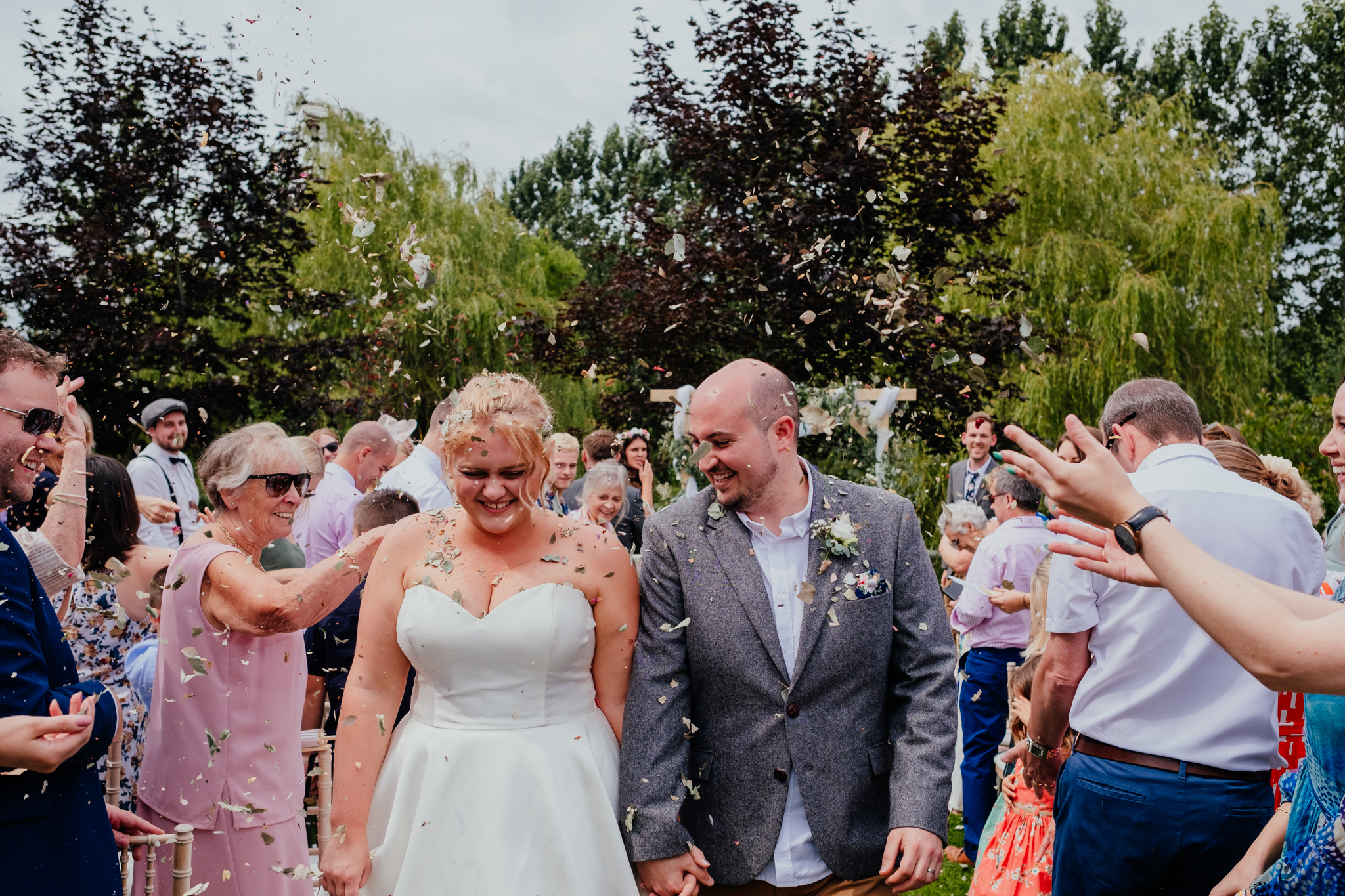 Confetti at Rumbolds Farm wedding