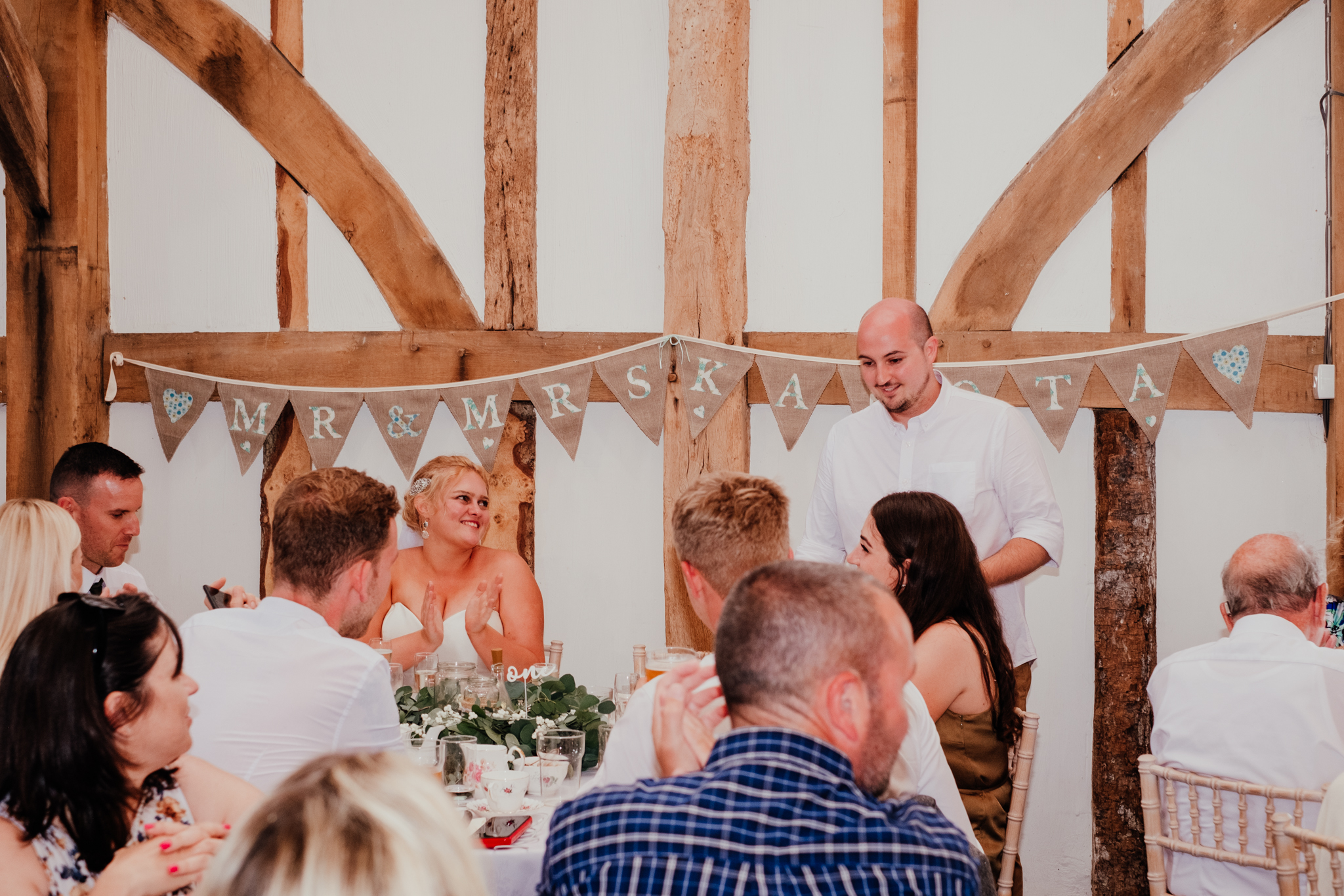 Speeches at Rumbolds Farm wedding