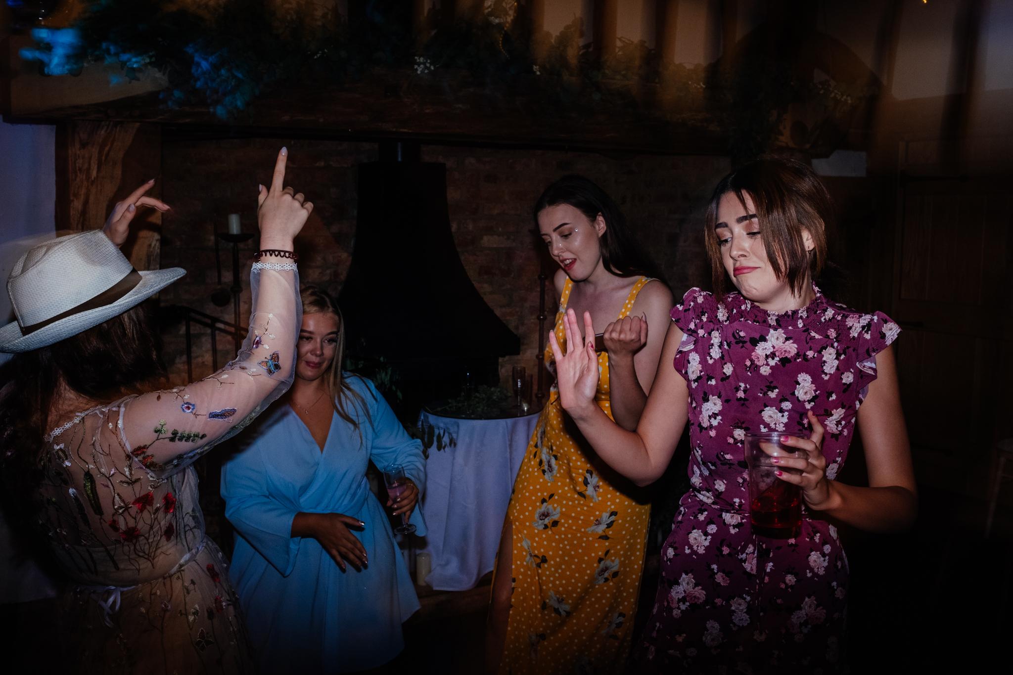 dancing at Rumbolds Farm wedding