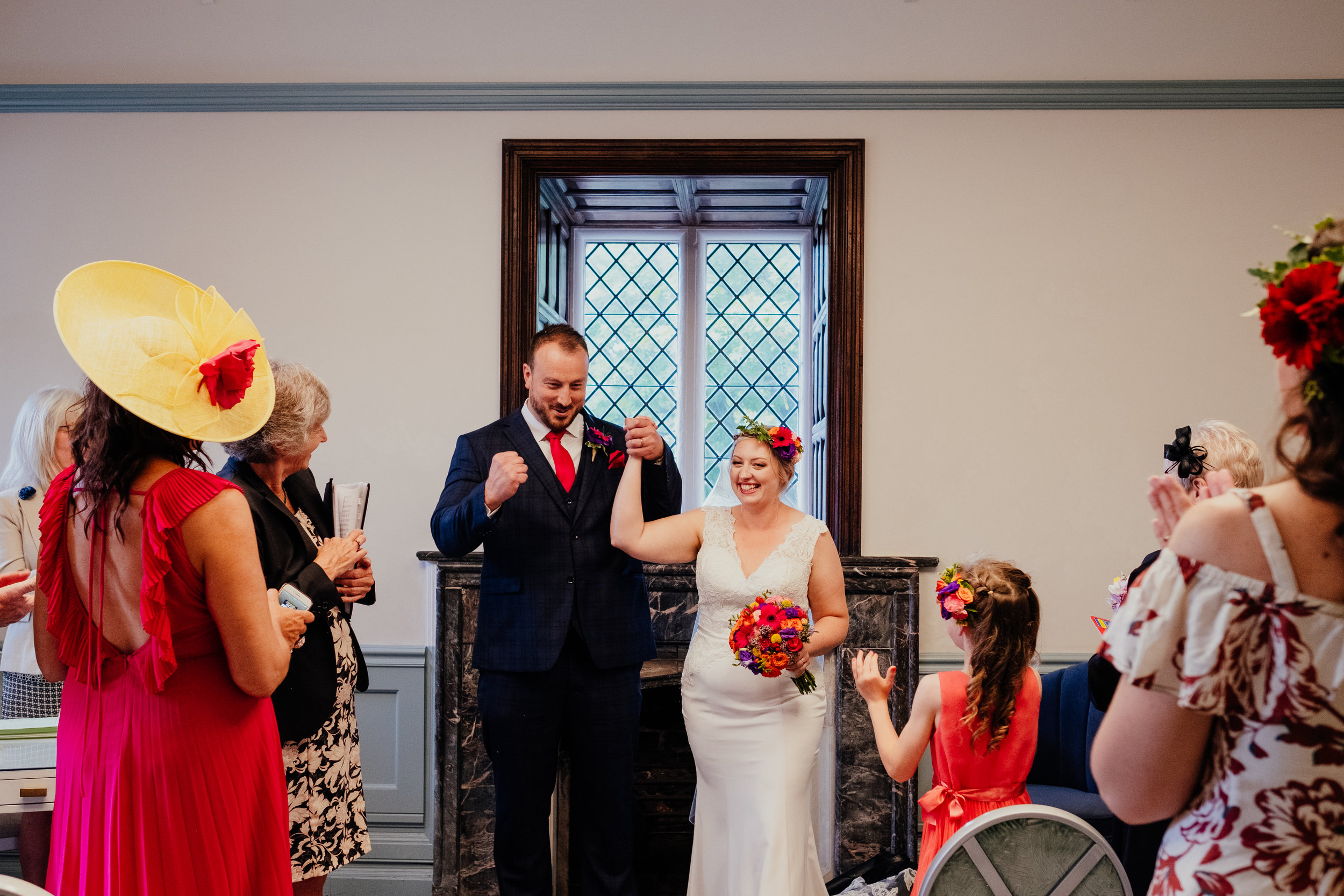 Just married at Southover Grange