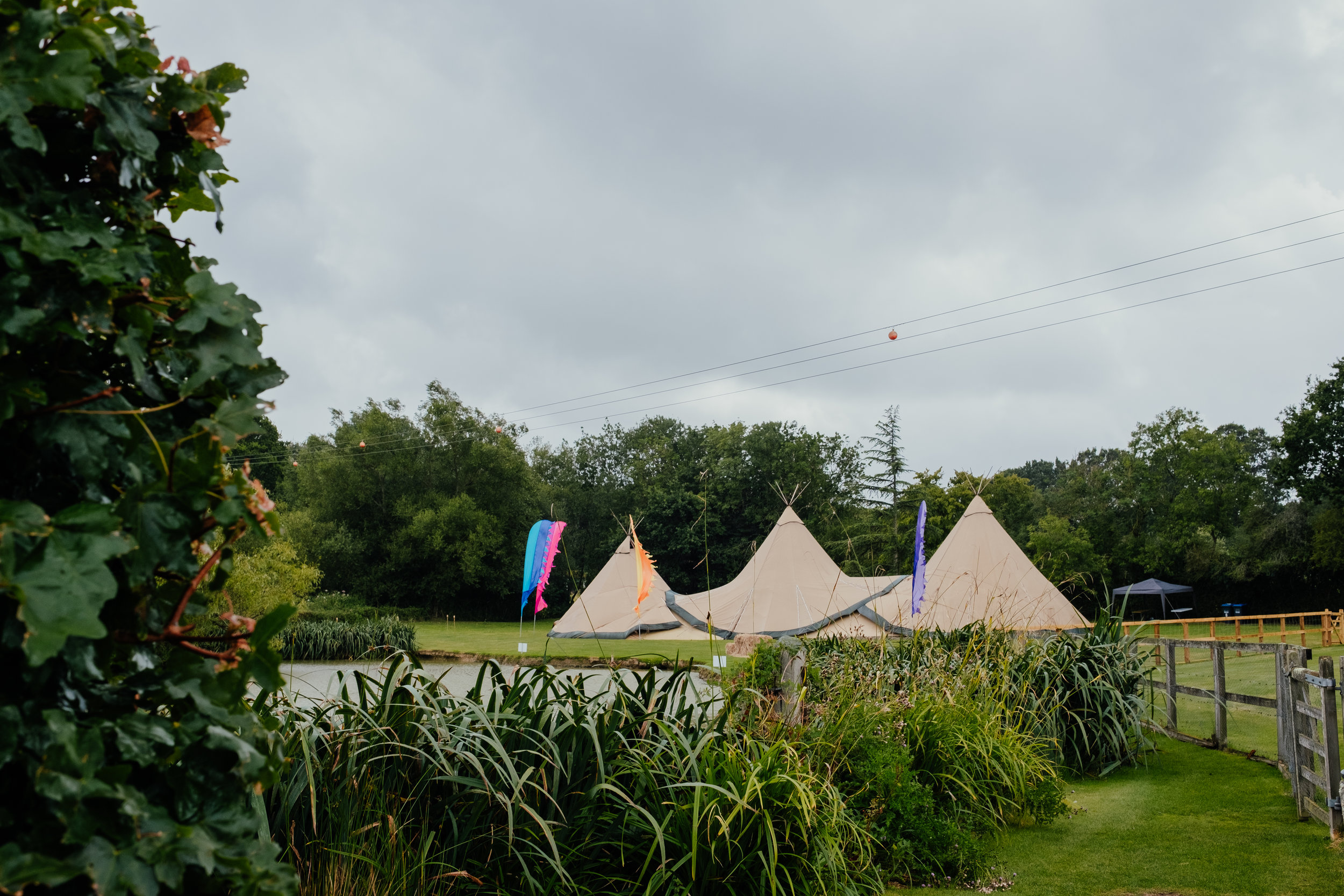 Vegan tipi wedding at Four Oaks Farm in East Sussex