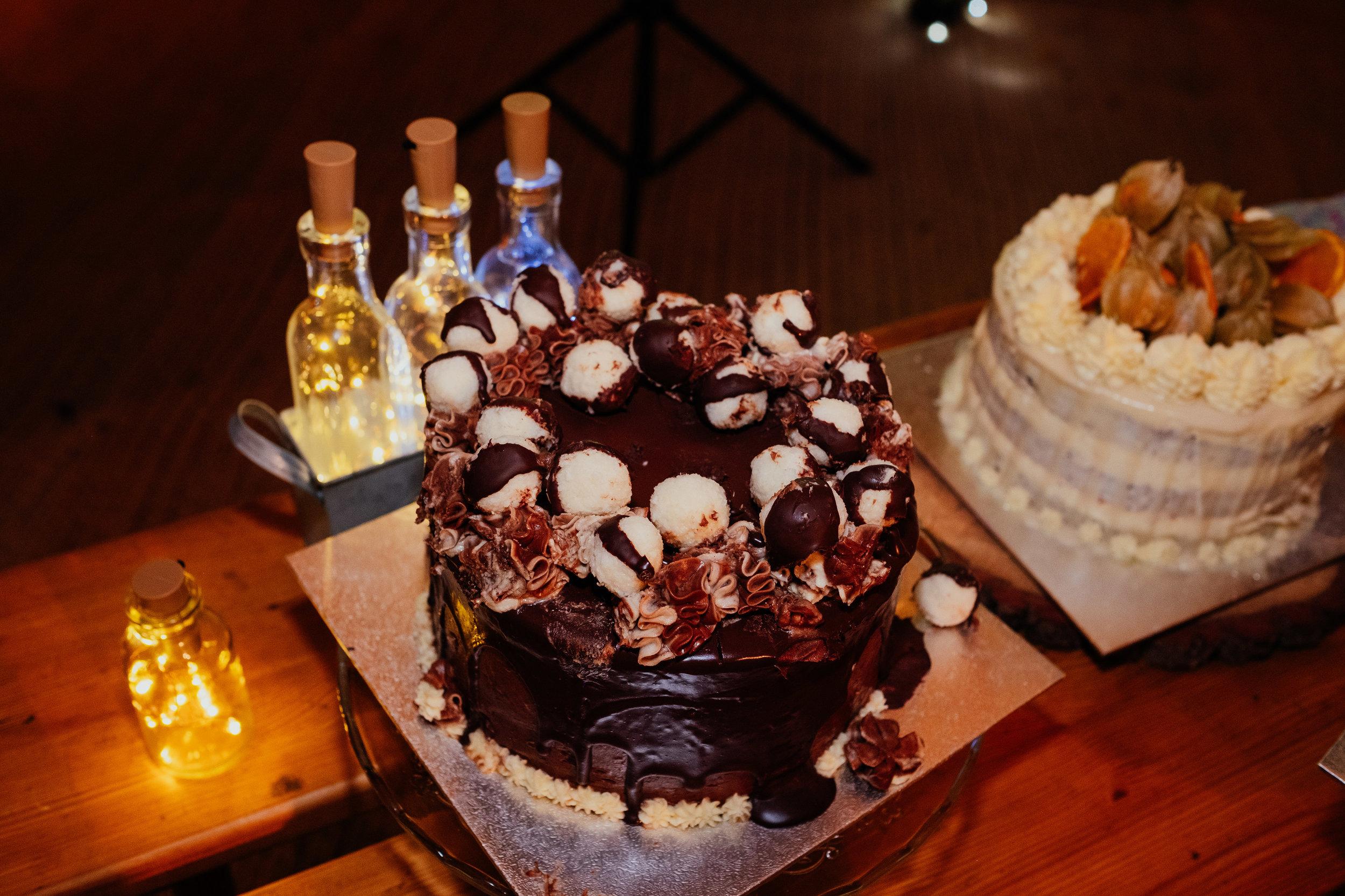 Brighton vegan chocolate wedding cake