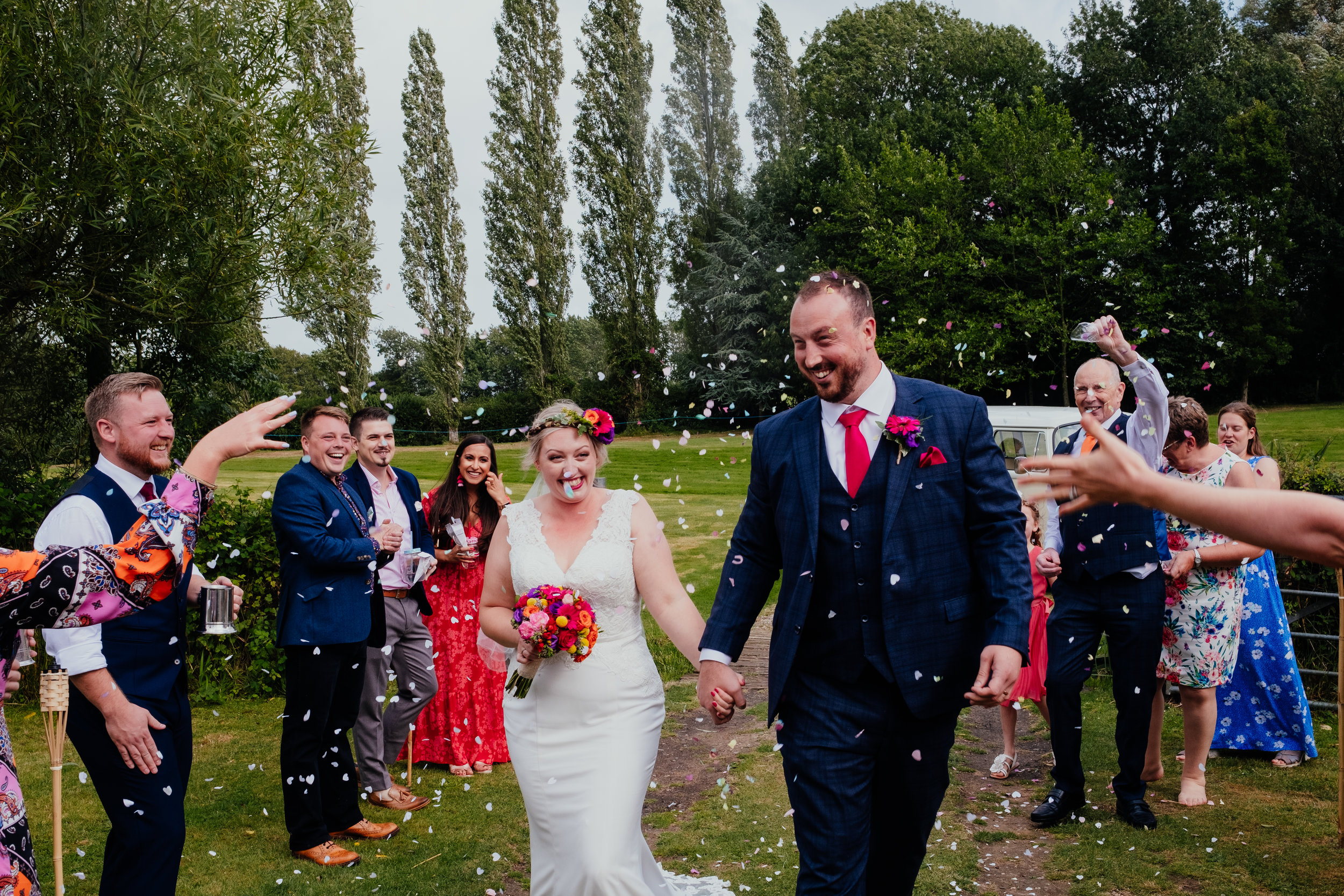Vegan wedding confetti at Four Oaks Farm