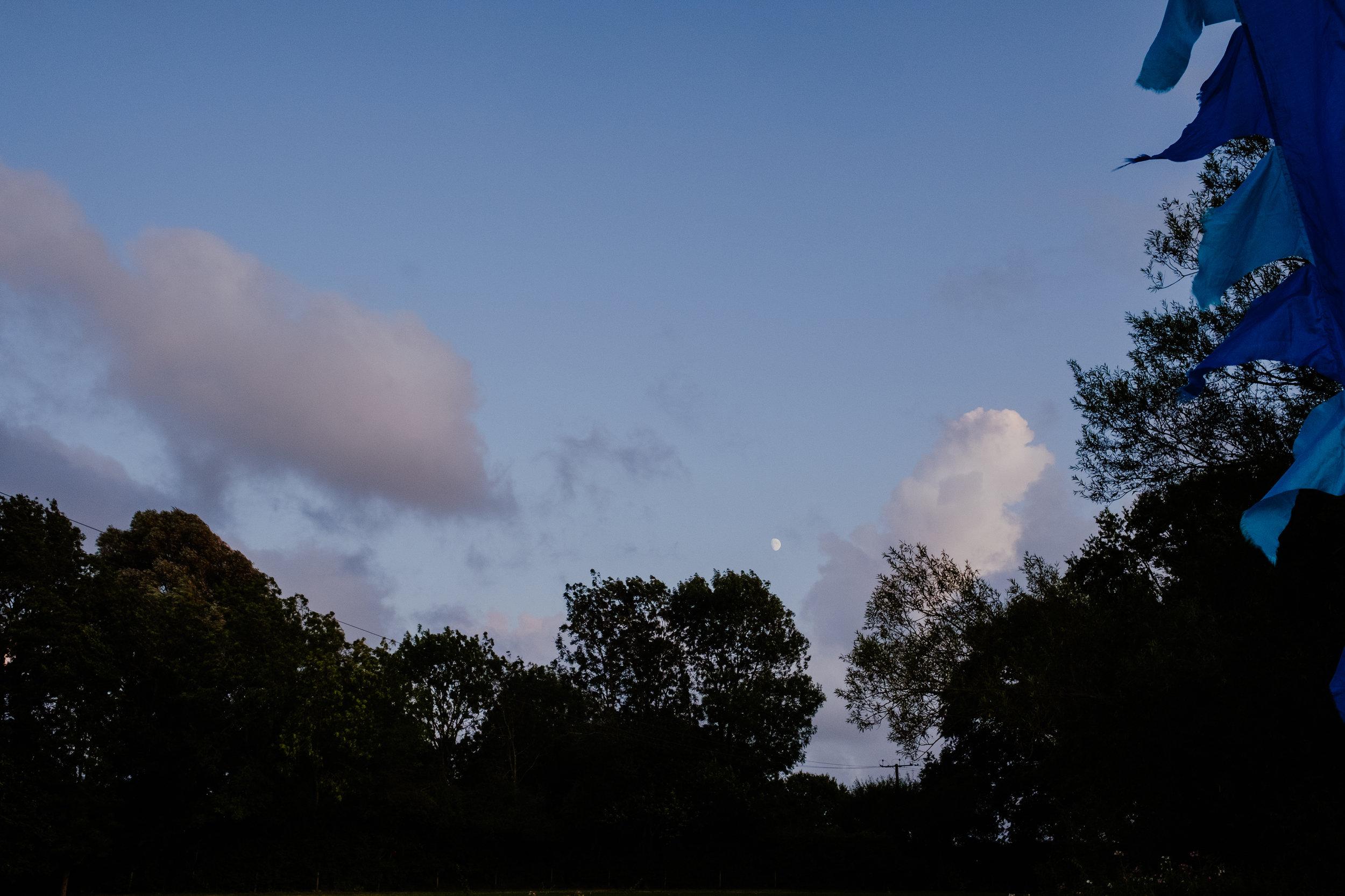 The night sky over Four Oaks Farm wedding