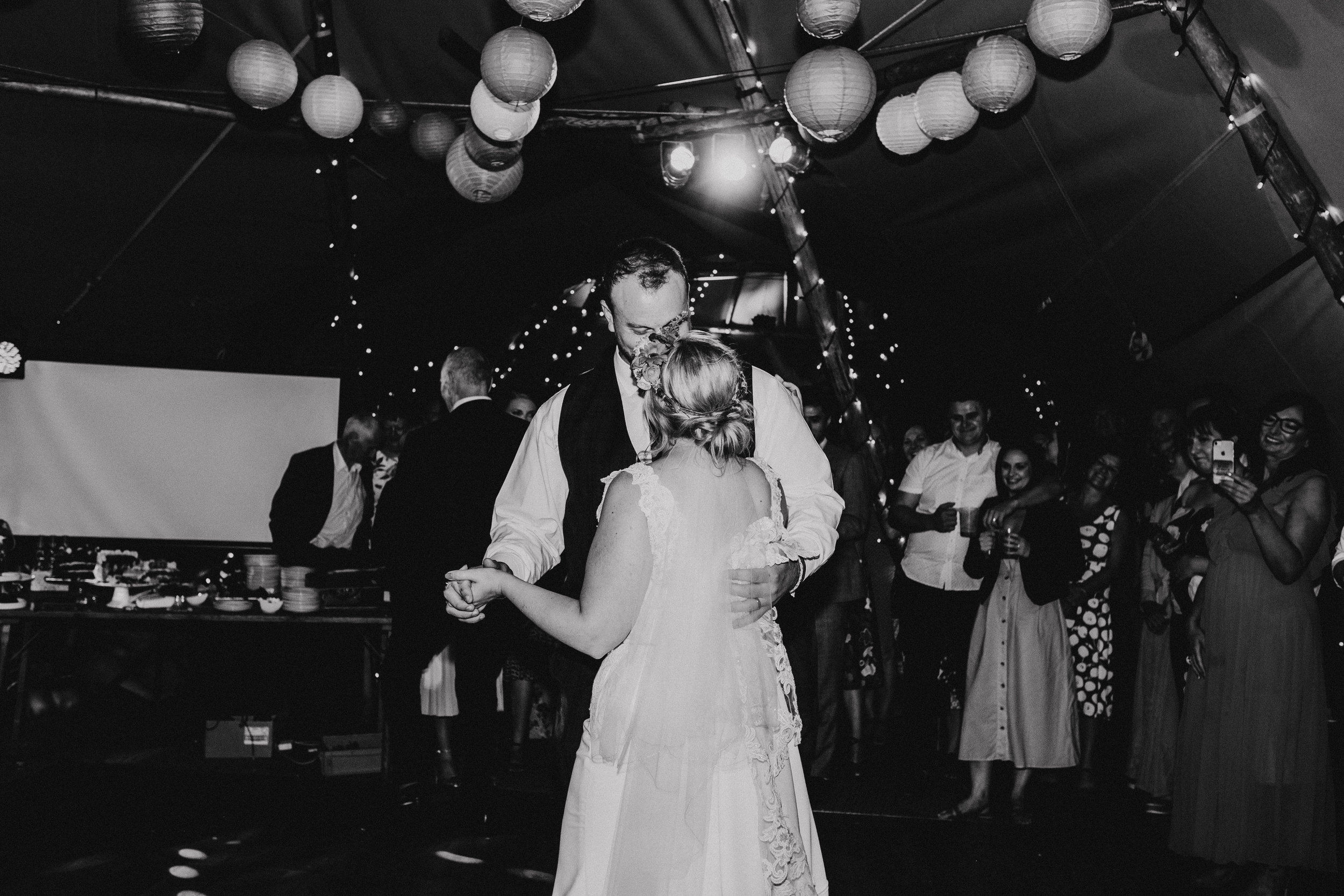 First dance during tipi wedding