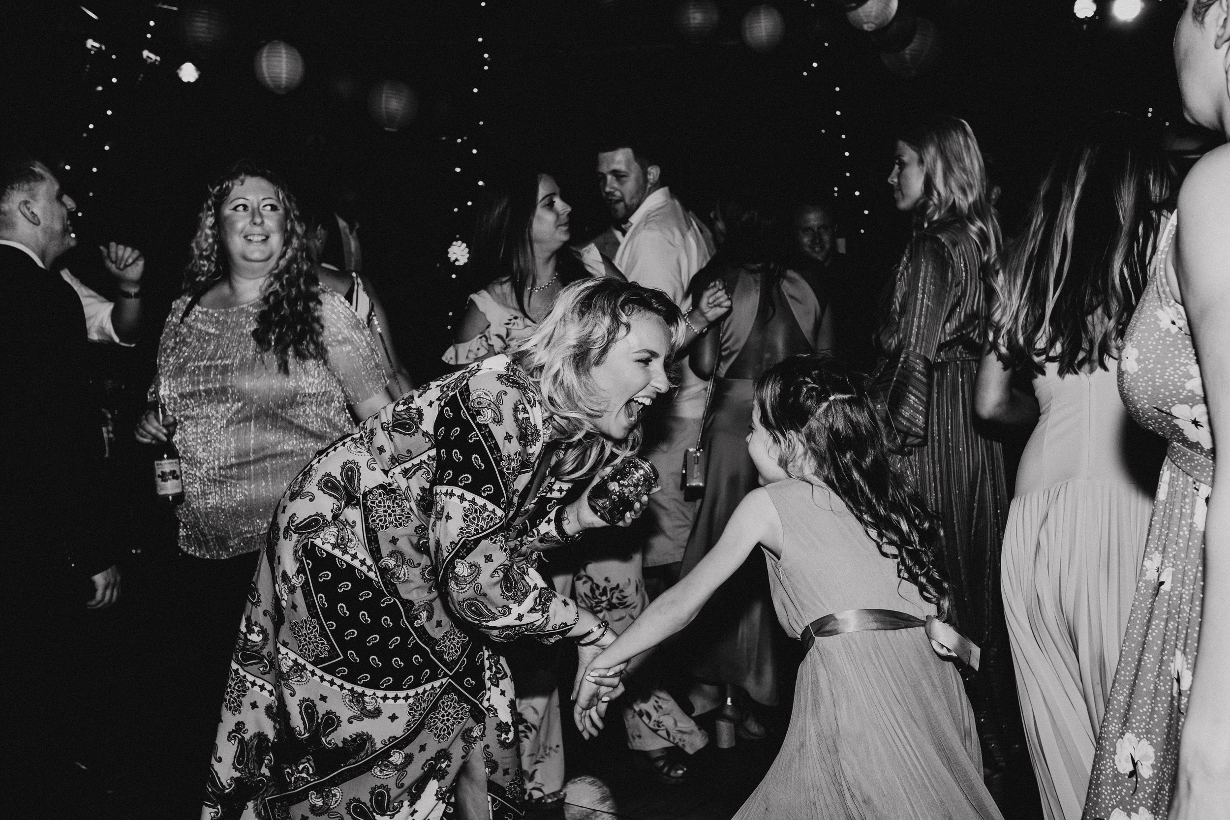Tipi wedding dance floor