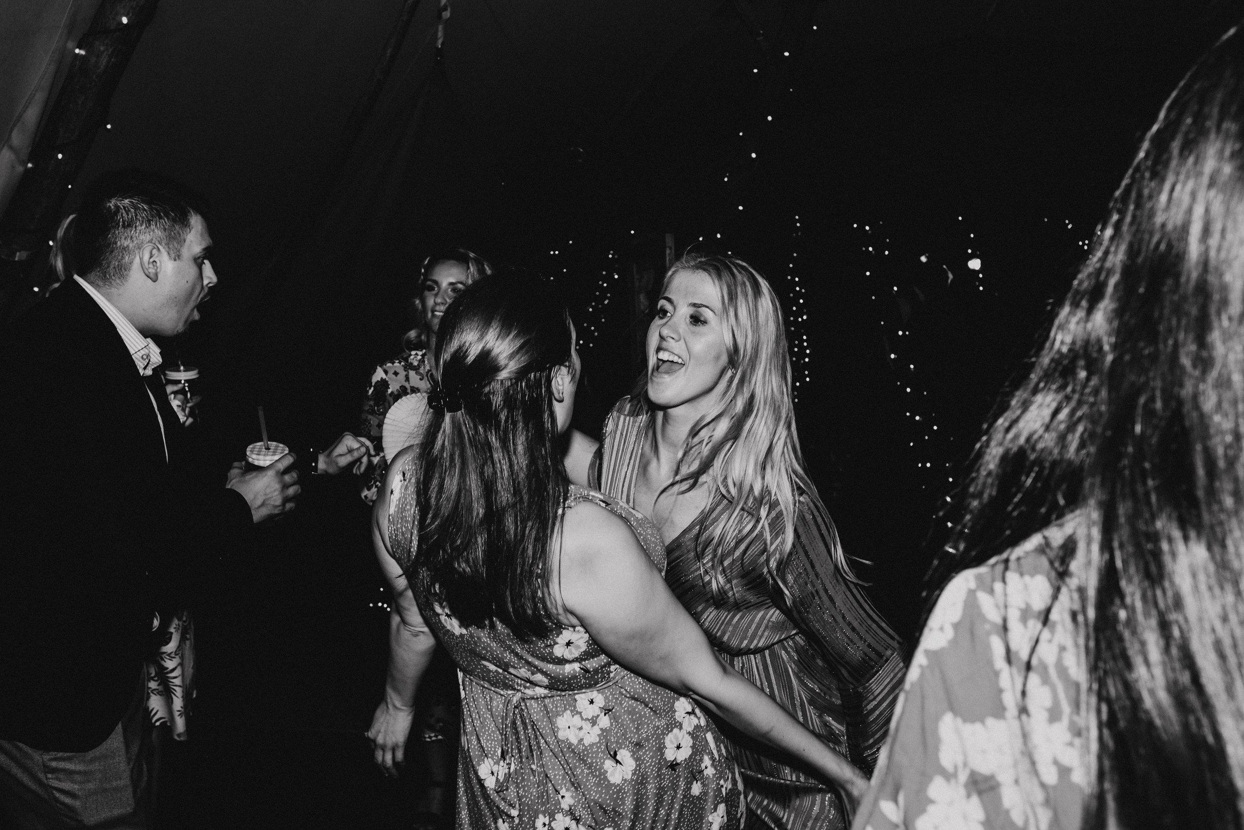 Four Oaks Farm tipi wedding dance floor