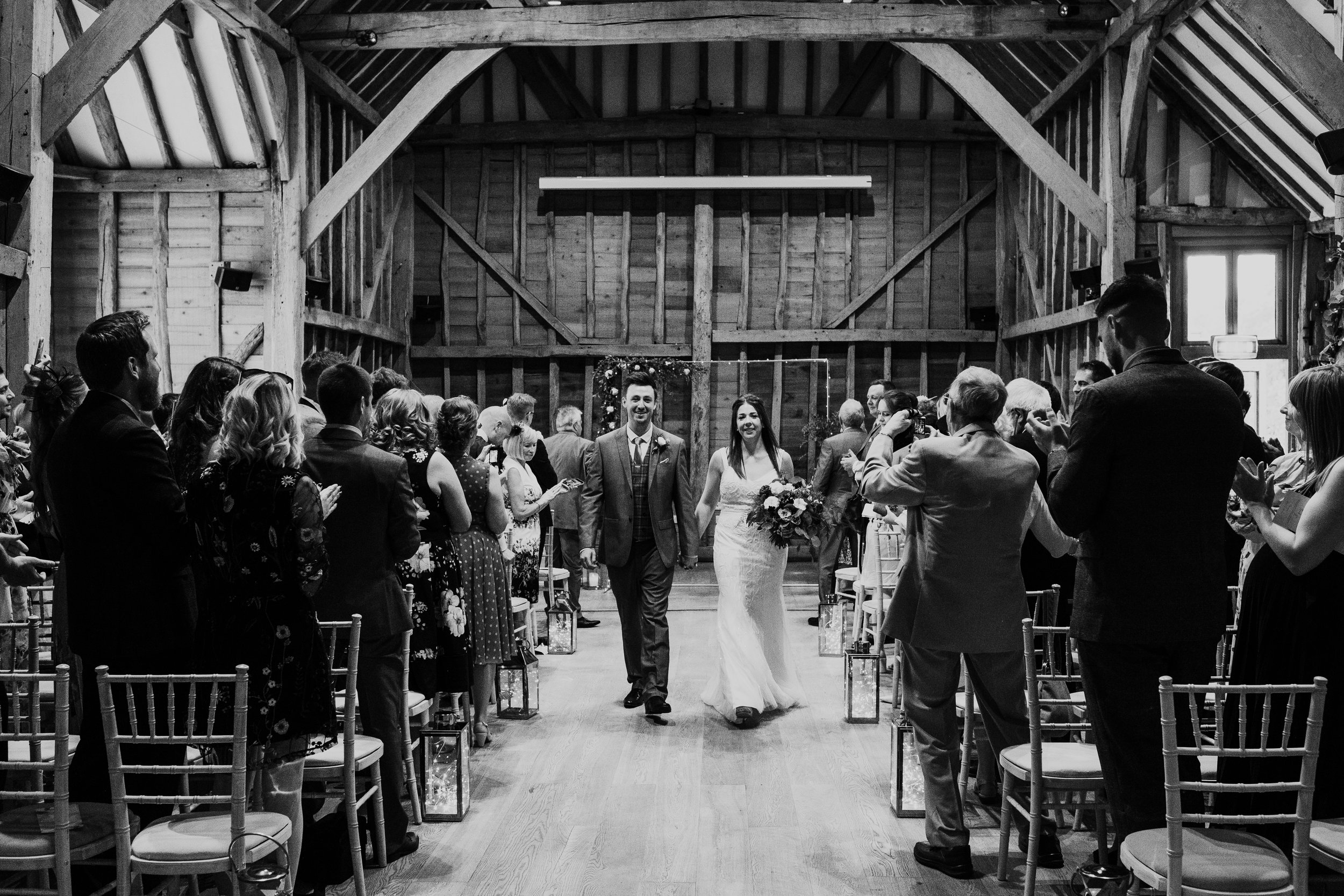 Bride and Groom just married at Tewin Bury Farm