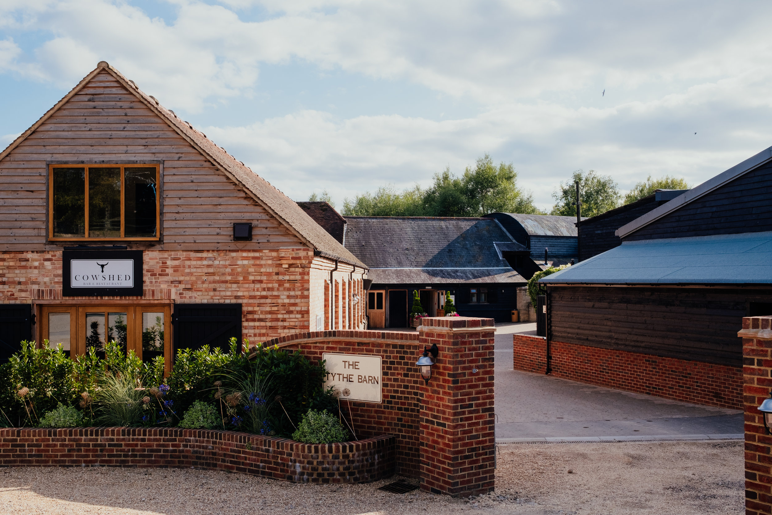 Tewin Bury Farm The Tythe Barn wedding
