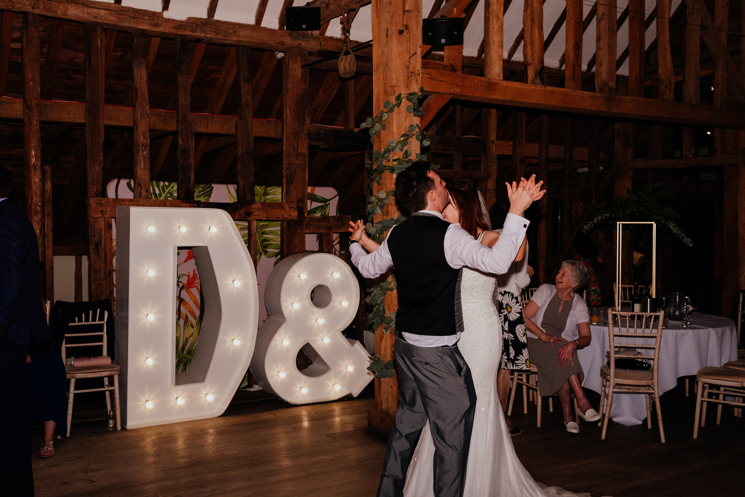 First dance during wedding