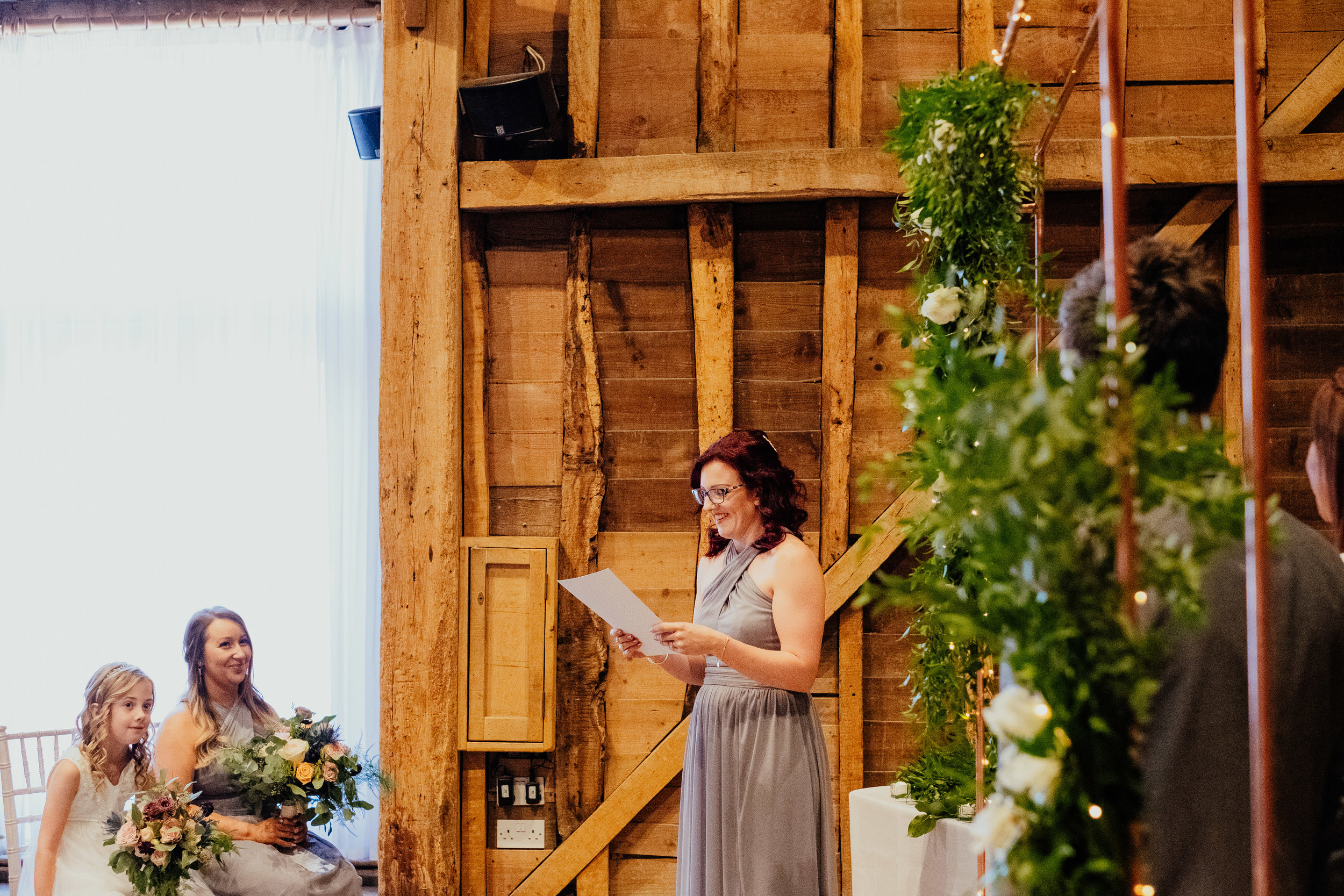 Wedding ceremony reading at Tewin Bury Farm