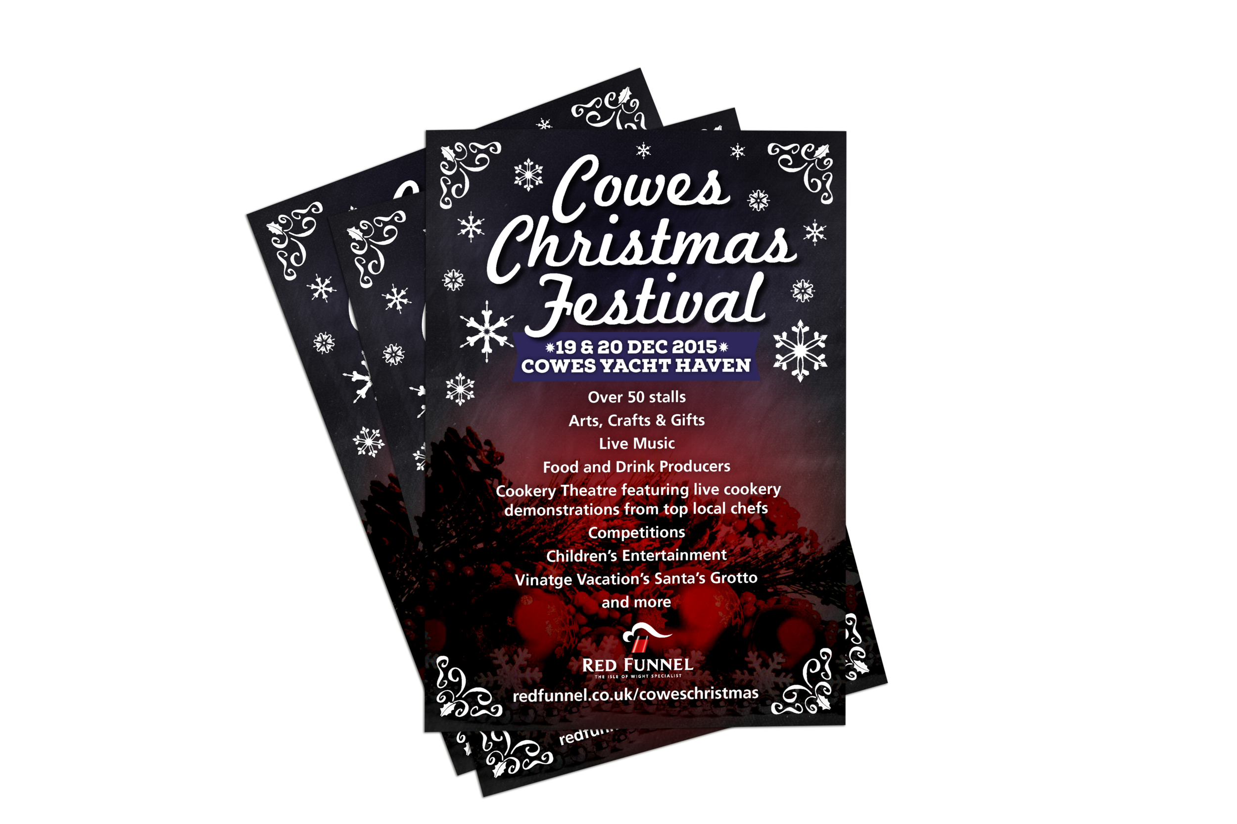 Red Funnel Ferries Christmas Festival Flyer Design