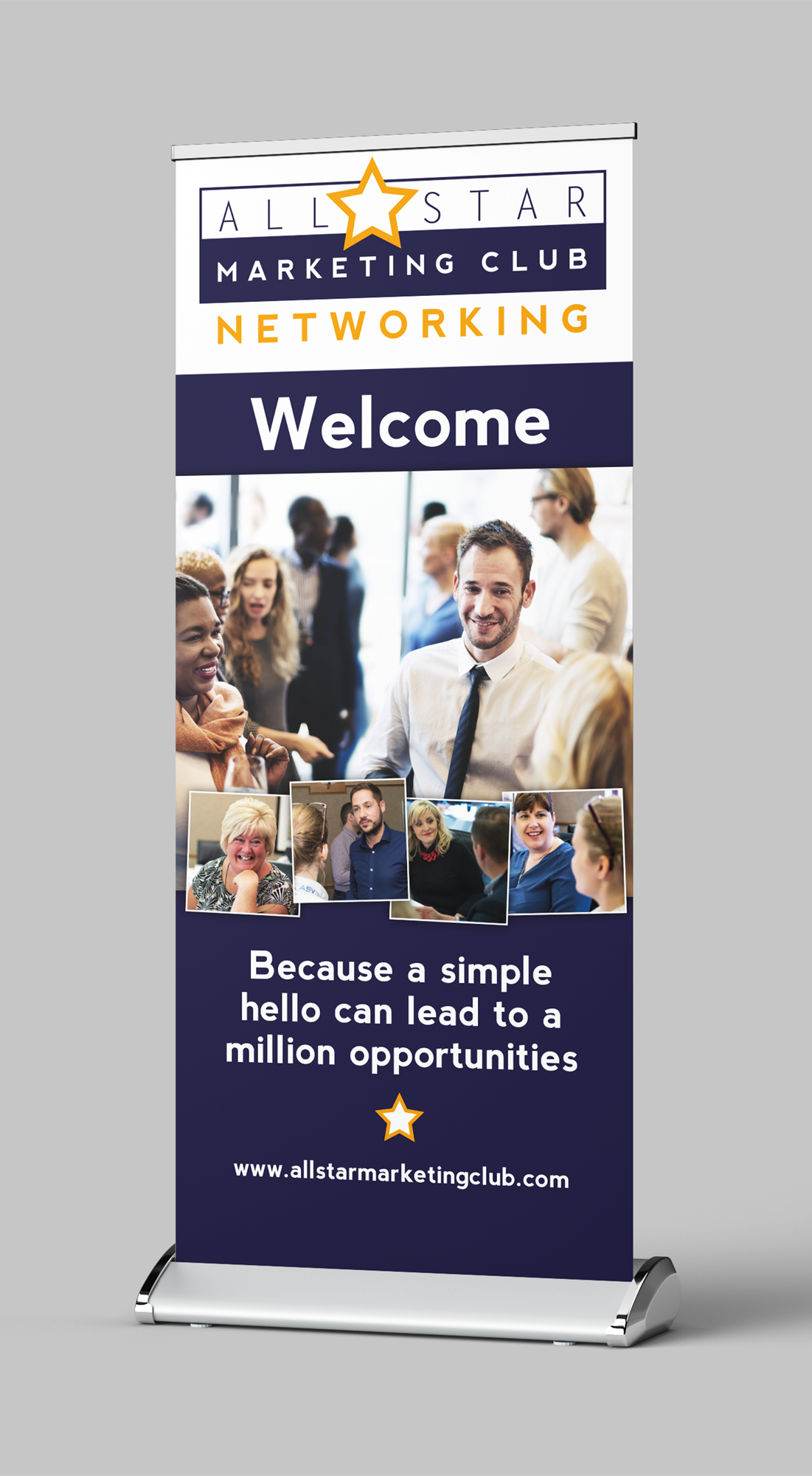 All Star Marketing Club Pull-Up Banner Graphics
