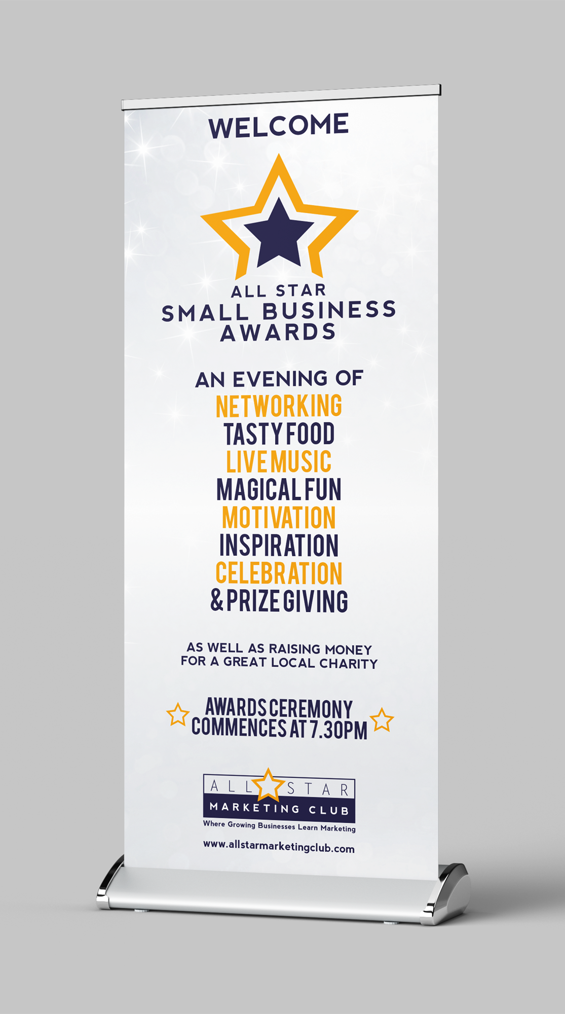 All Star Marketing Club Awards Banner Design