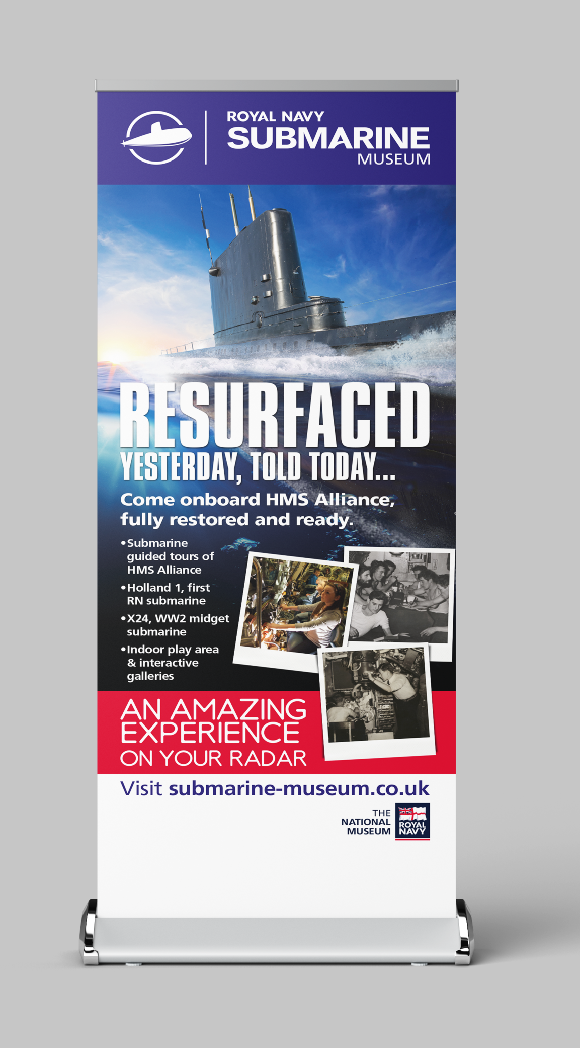 The Royal Navy Submarine Museum Pull-Up Banner