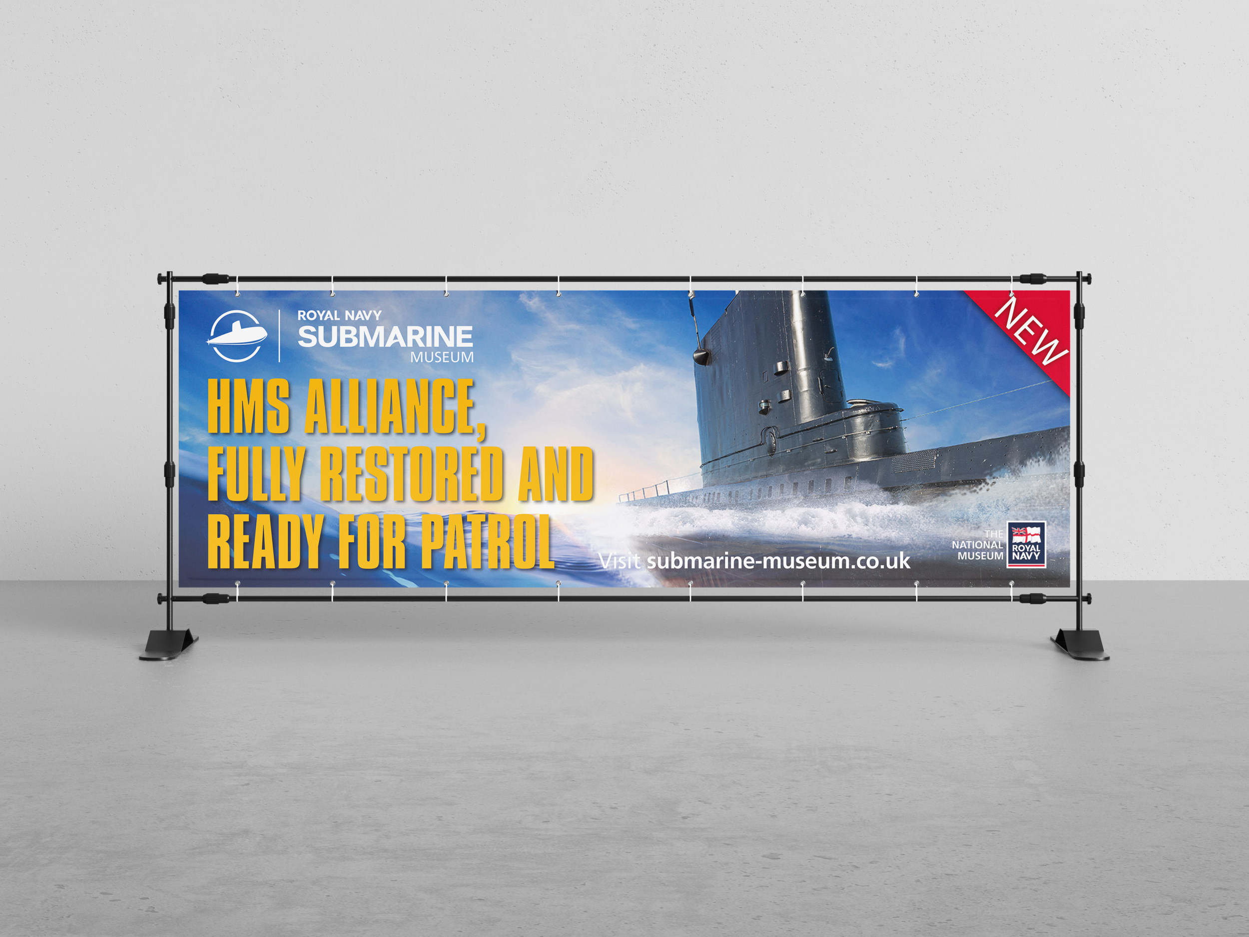 The Royal Navy Submarine Museum Banner Frame Outdoor Stand Exhibitions