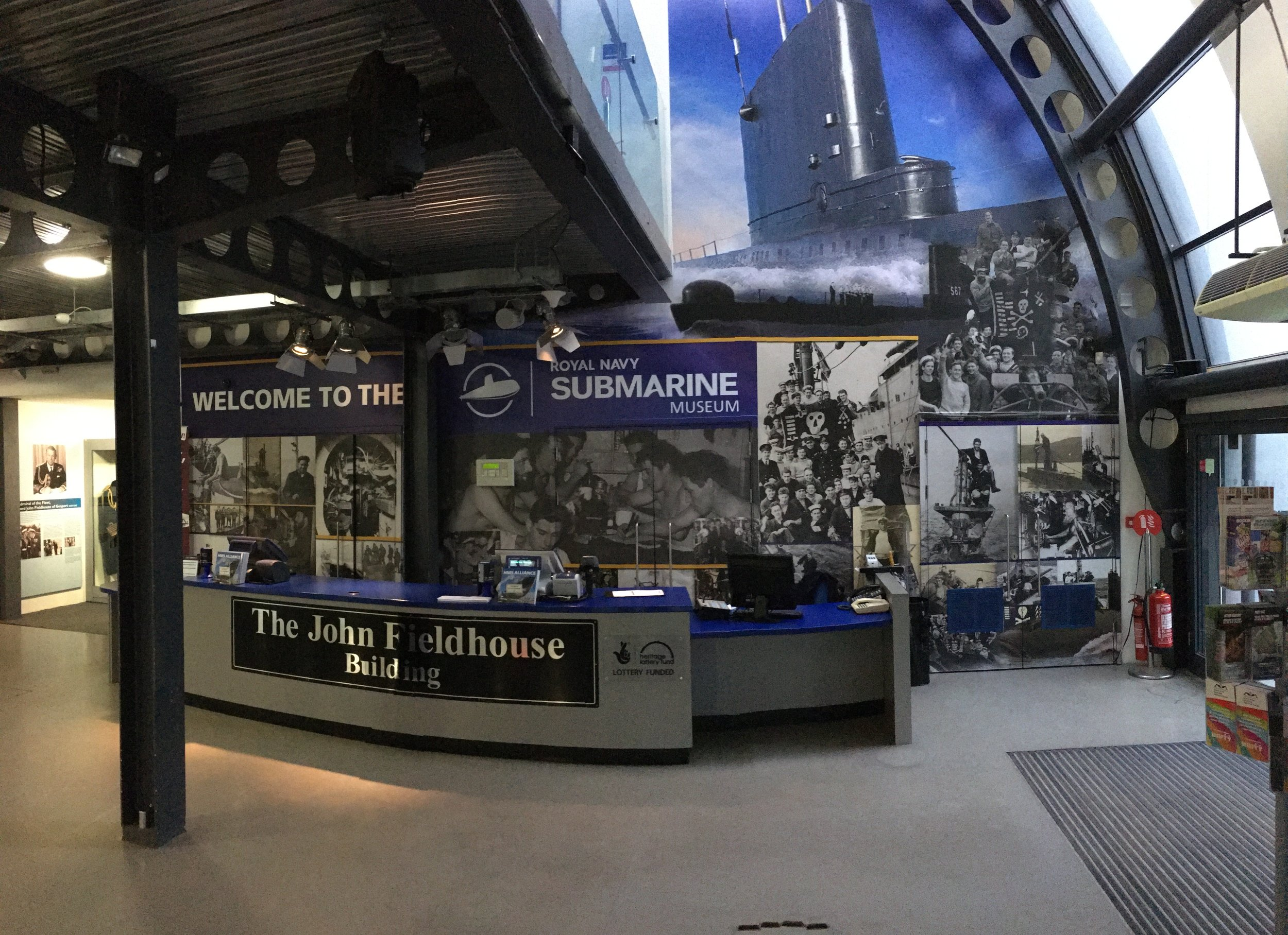 The Royal Navy Submarine Museum Ticket Office Wall Graphic