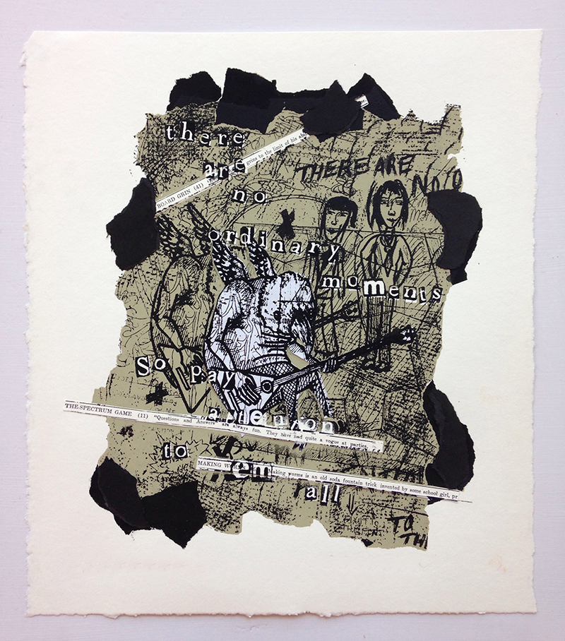 "Frame    –     Scholastic Gold Key   prize winner, 18""x24"" screen print and collaged paper."
