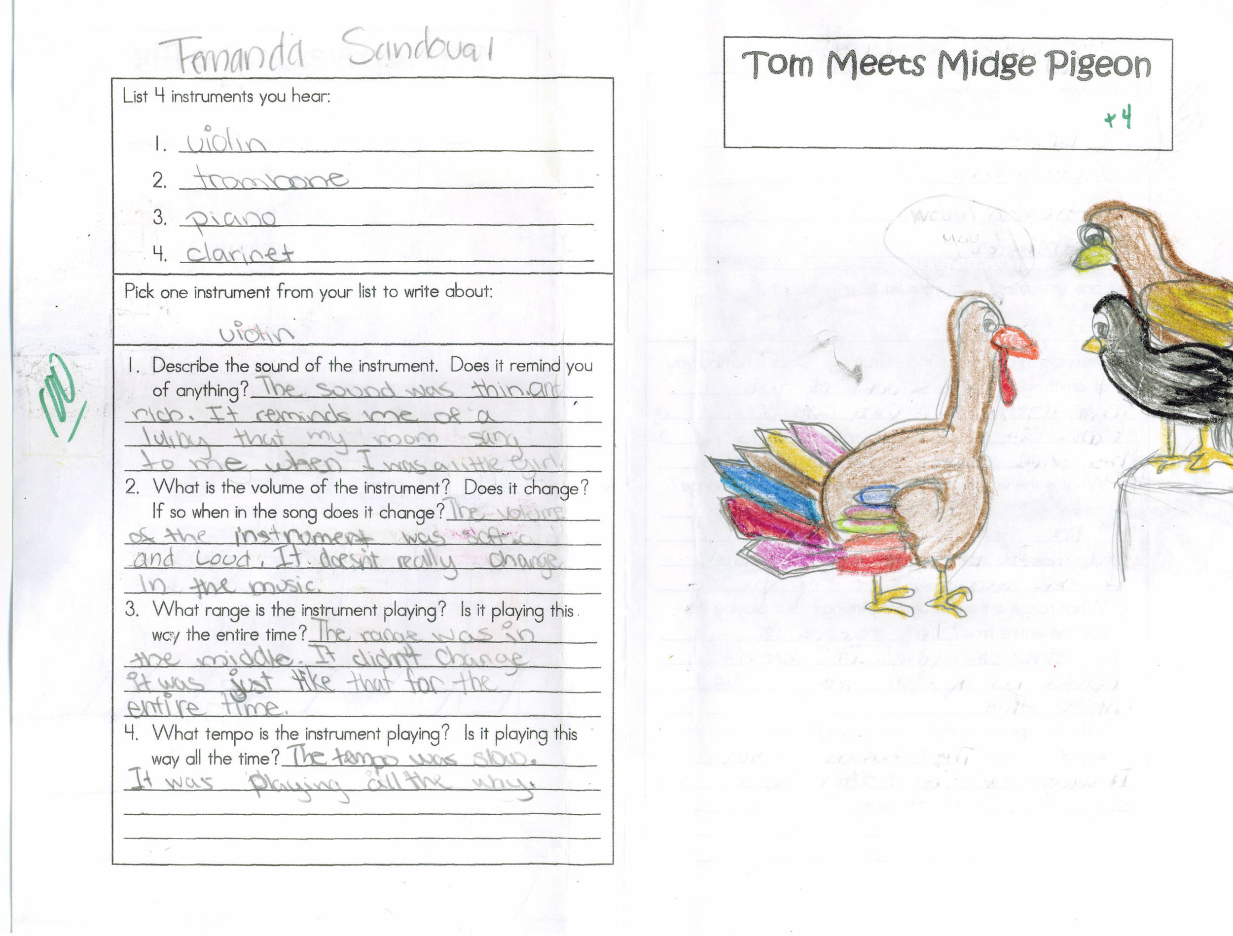tough turkey in the big city: tom meets midge pigeon        Second Grade, San Josa Edison Academy, California