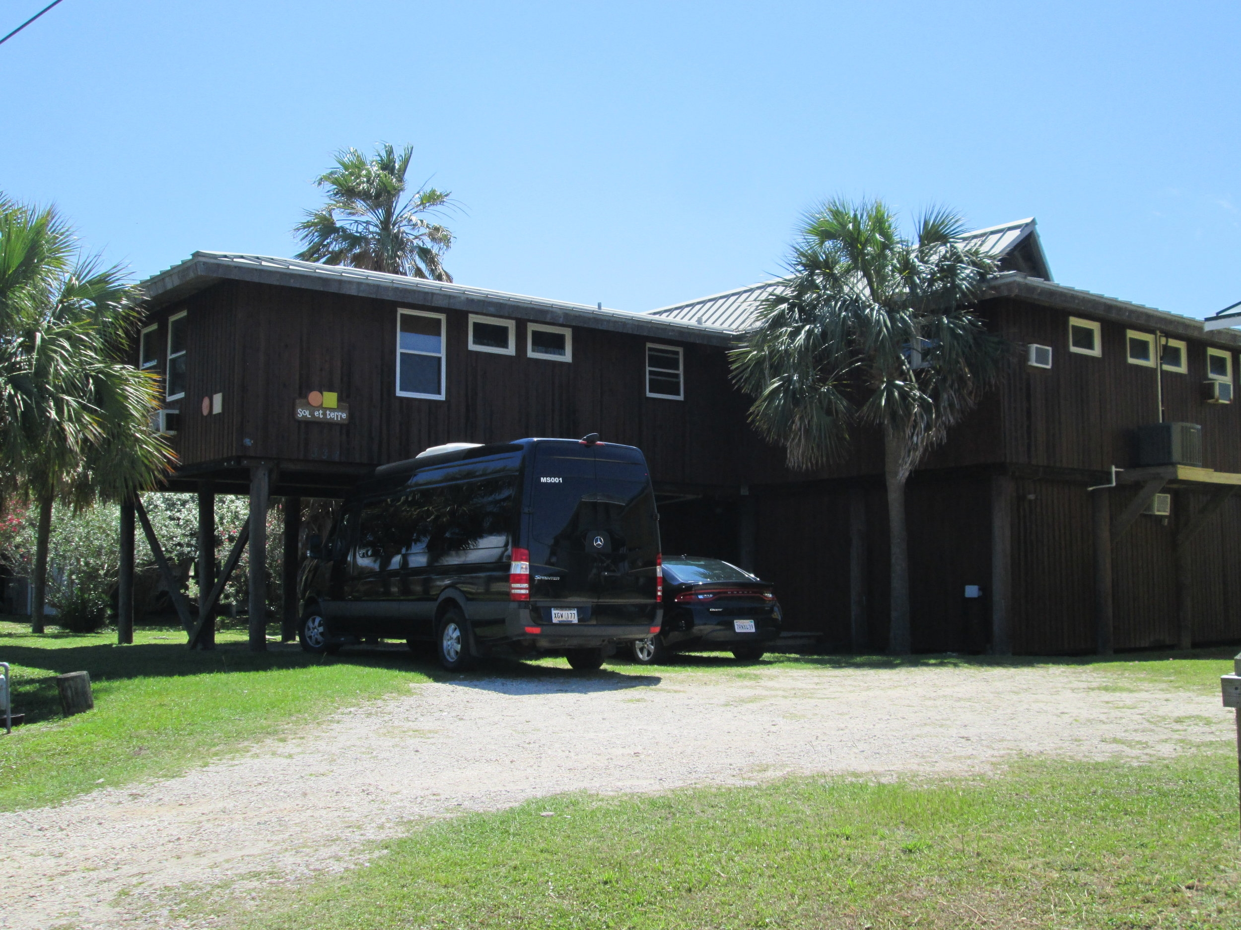 Our beach house and our Mercedes Sprinter