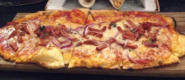 Chorizo flatbread