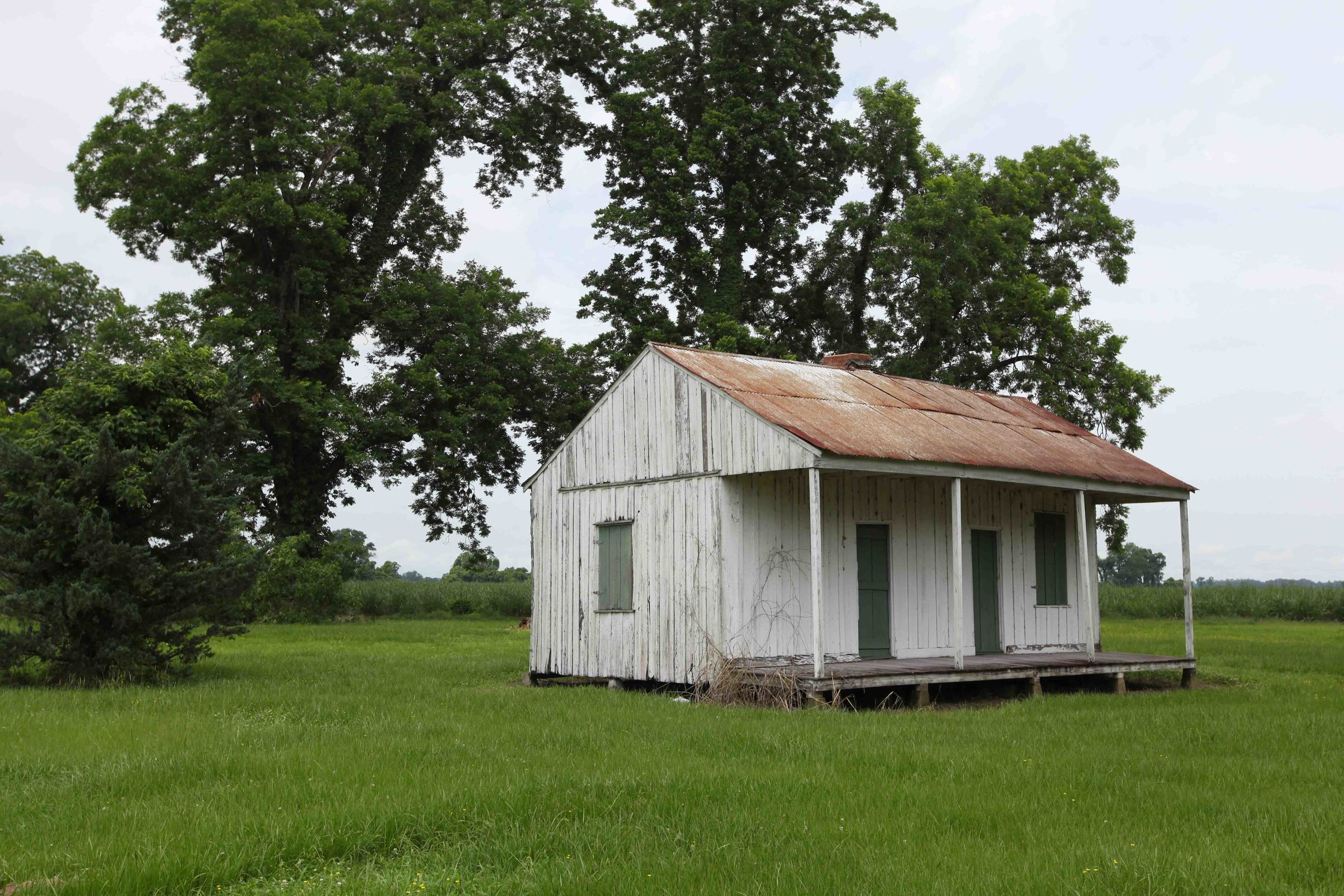 Old Sharecropper homes in Pointe Coupée Parish.