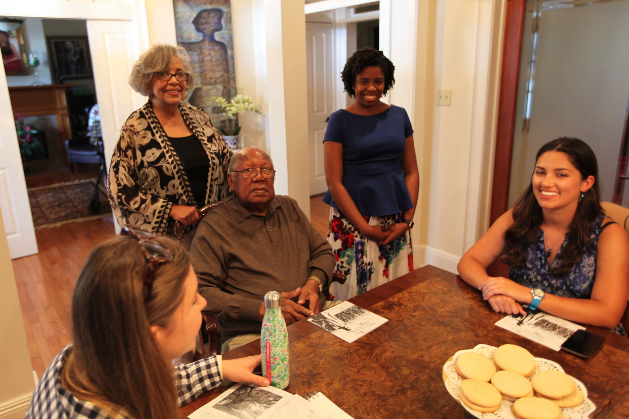 Dianne Gaines, Ernest J. Gaines and Cheylon Woods