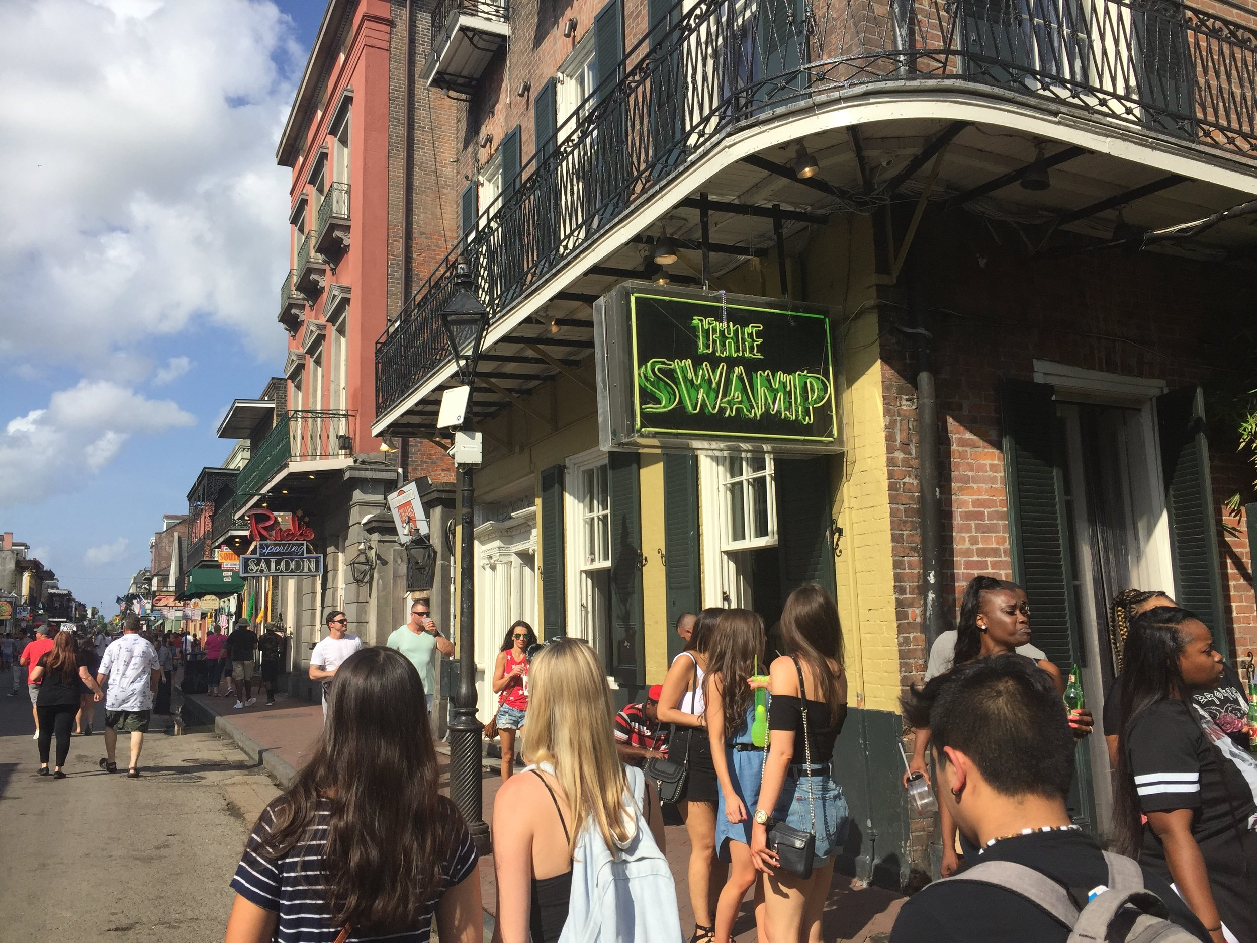 First time on Bourbon St.