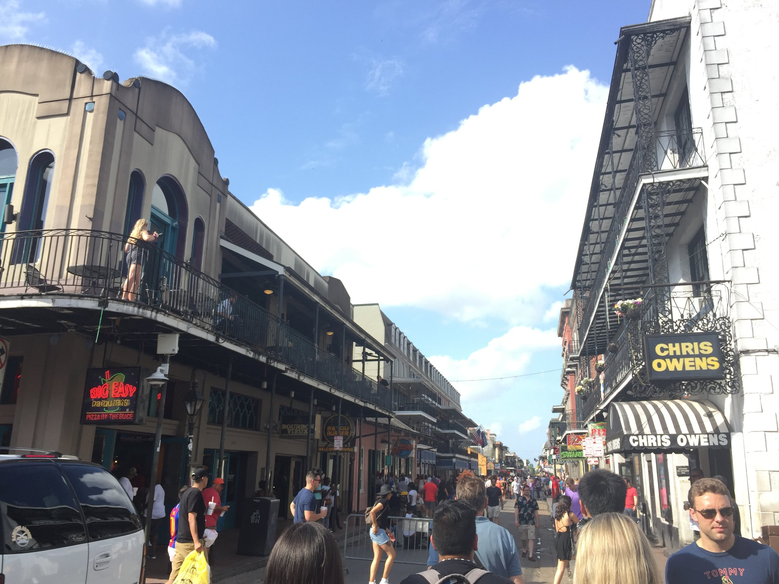 Ful view of Bourbon St.