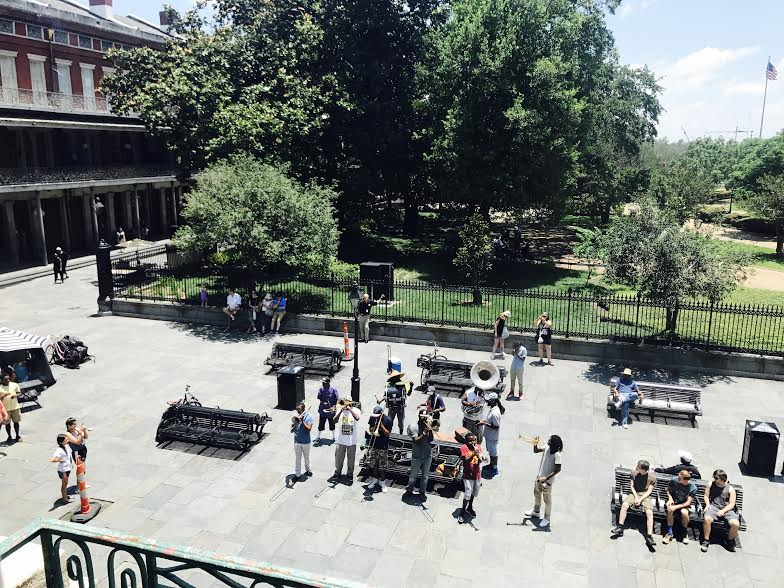 Jazz in Jackson Square (view from the Louisiana State Museum).