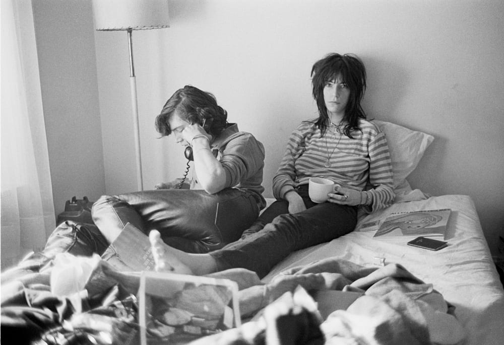 Patti and Robert at the Hotel Chelsea, room 204, 1970