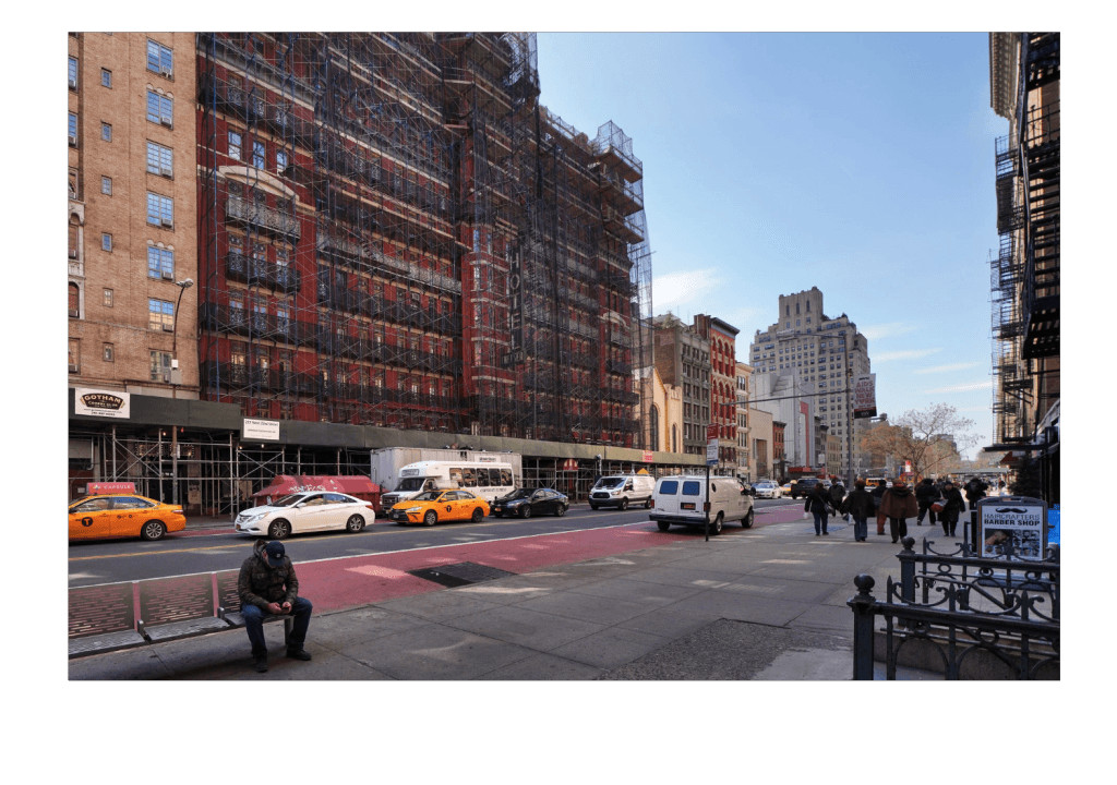 The Hotel Chelsea, currently under construction (The New York Times)