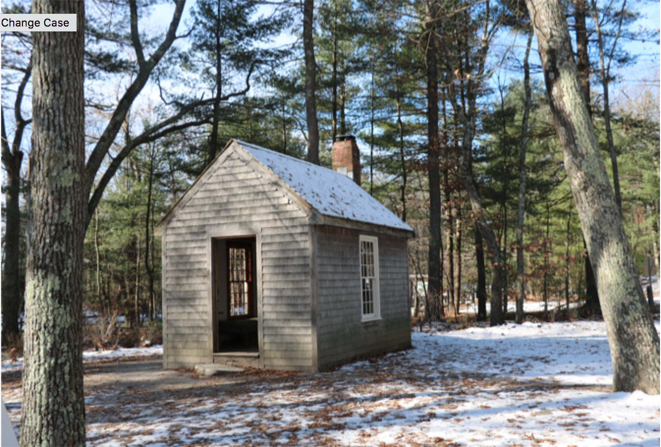 Replica of Thoreau's homestead