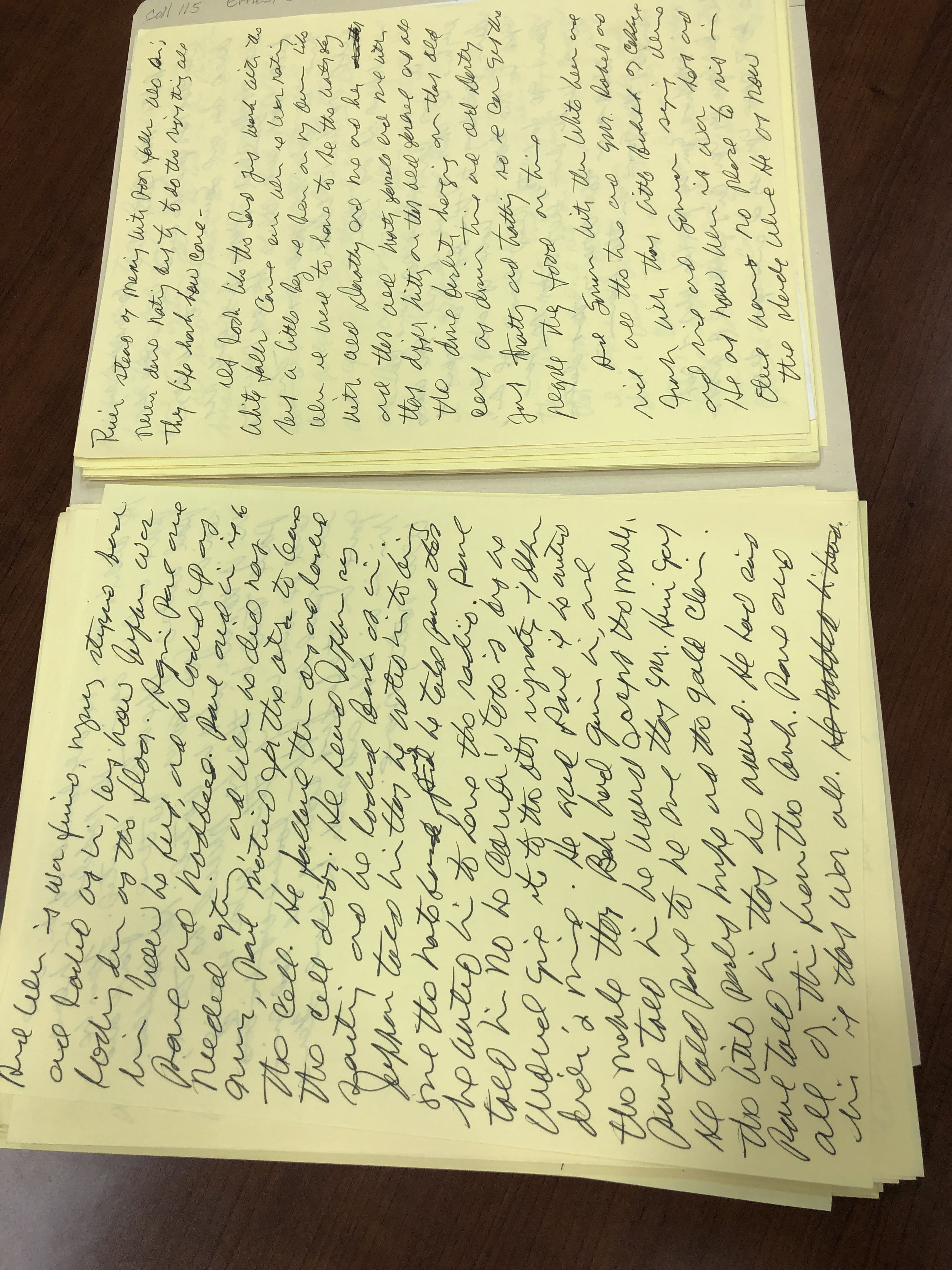 An original manuscript of Jefferson's journal entry, my favorite part of the novel