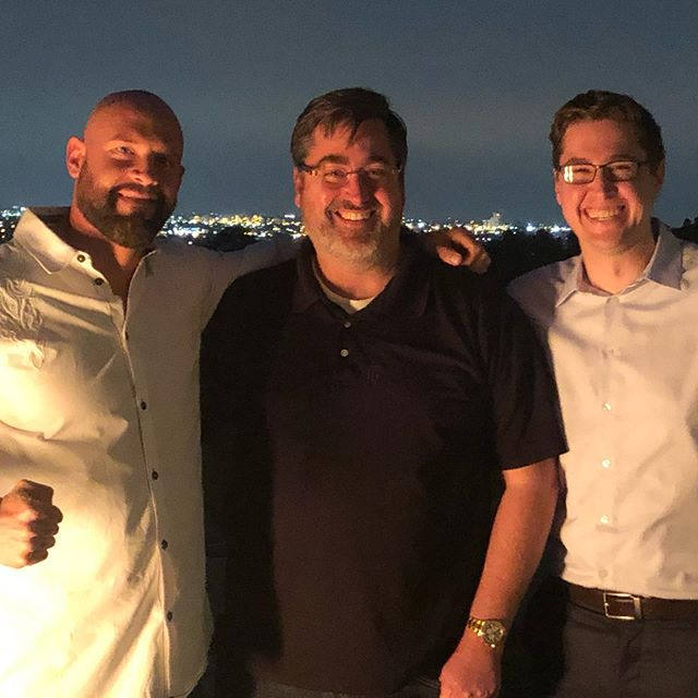 A very happy and long overdue reunion with @mdp_pve and Brandon Panfil. I'm very excited about what's to come with these guys. Buckle up and pay attention it's gonna be a helluva ride! #letsgo #herewego #letsgochamp #reunion #friendshipgoals #chasethebelt #titlerun #boxing