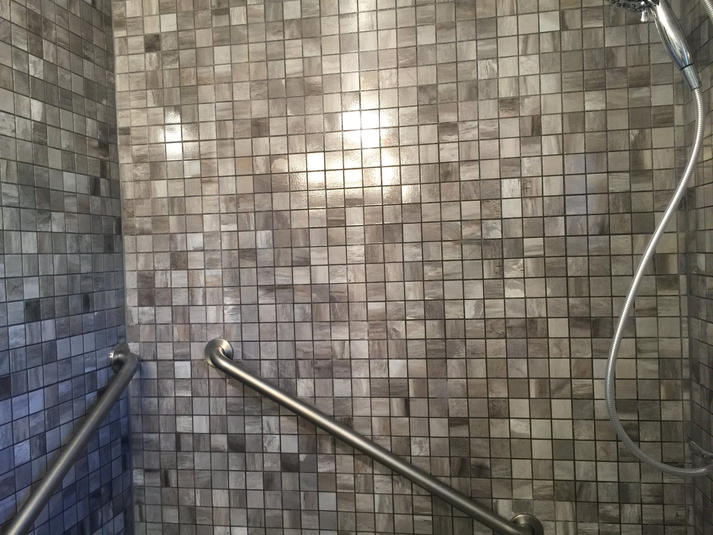 Shower after.