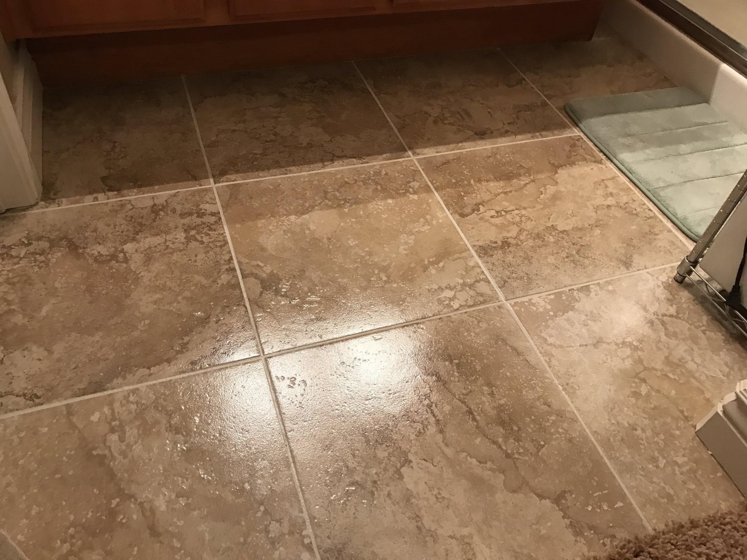 Floor coated.