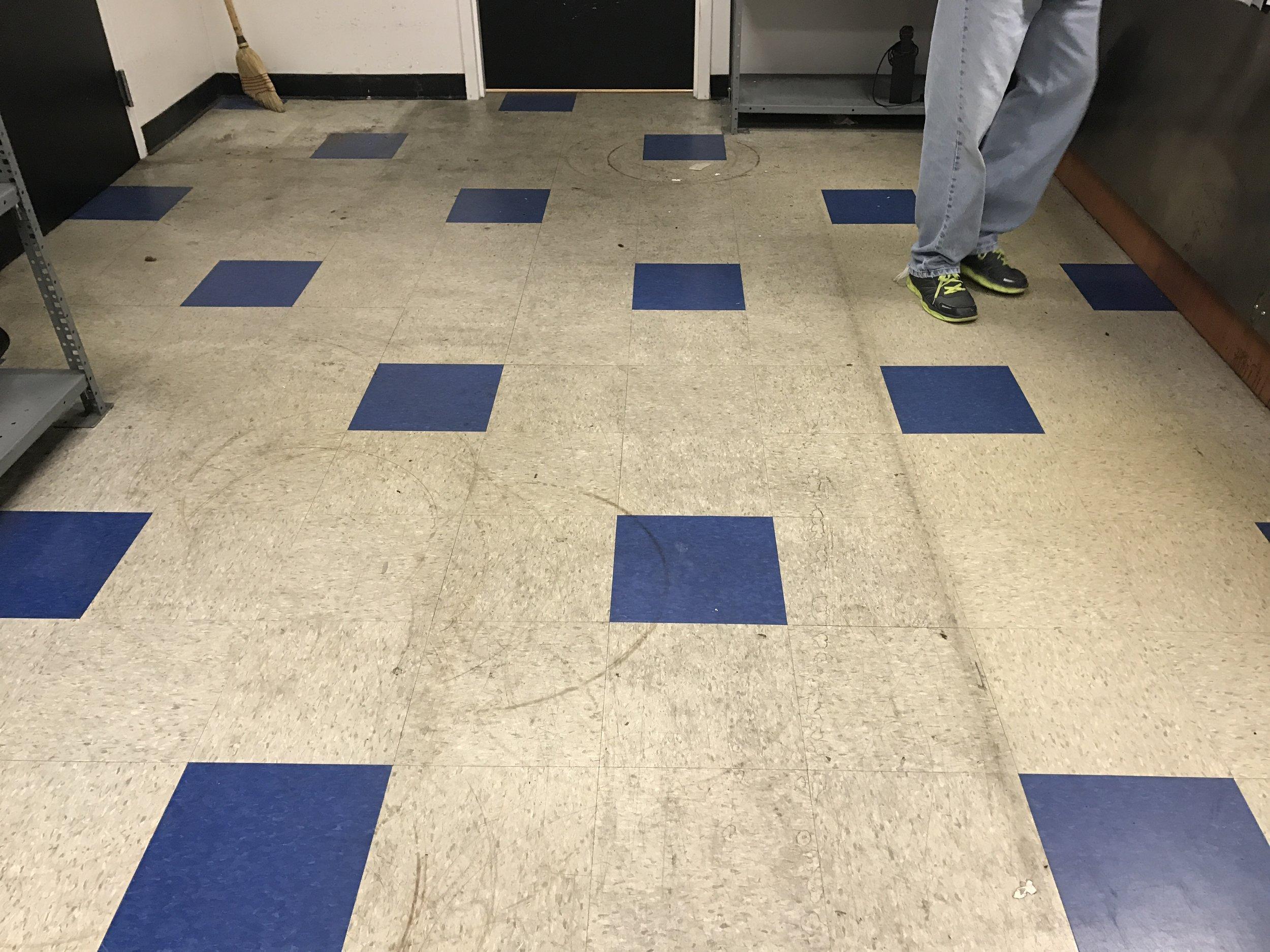 VCT Floor Before...