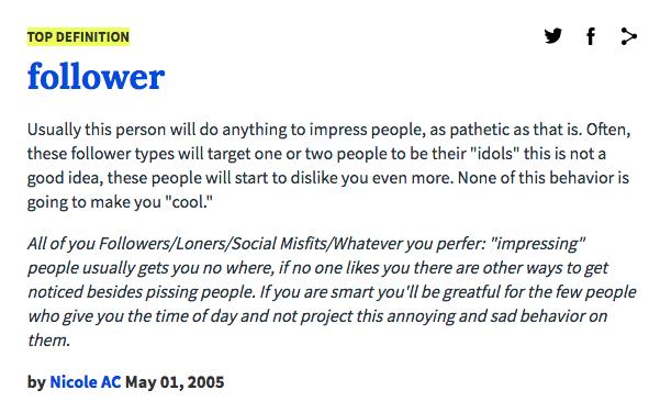 Follower Urban Dictionary