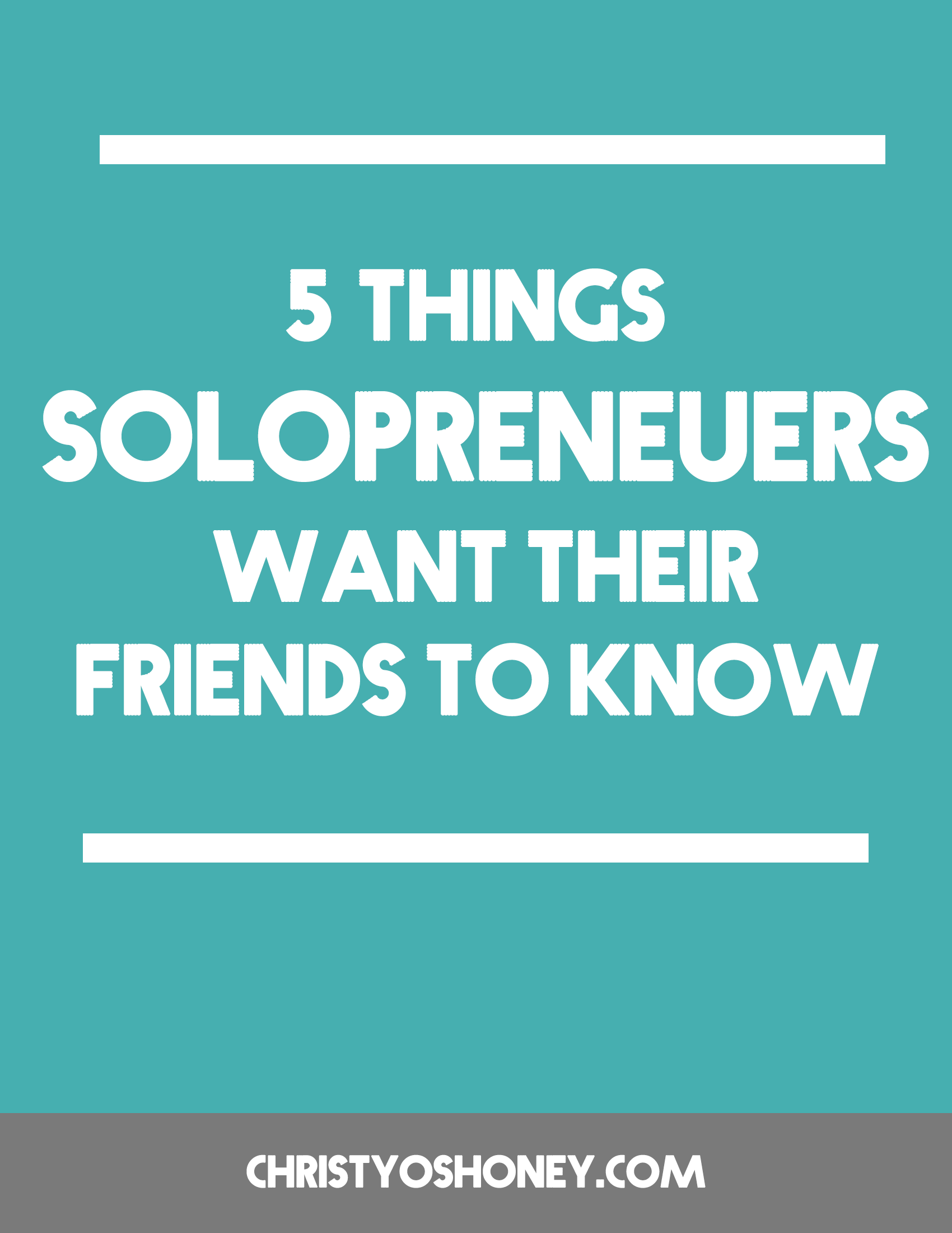 While being a  solopreneur comes with so much freedom, there are definitely some tricky parts of the job. This post lays out some ways to support the solopreneur in your life. And if you happen to be of the solobiz persuasion, this post will definitely resonate with you. Click through to read more!