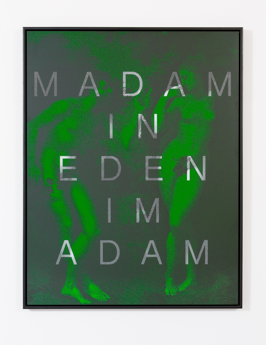 AGOM-0003 - Agostinelli, MADAM IM EDEN IM ADAM (Adam & Eve), Matte ink on acrylic mirror, Ed 1:8, 155 x 120 cm, 2014:15.jpg