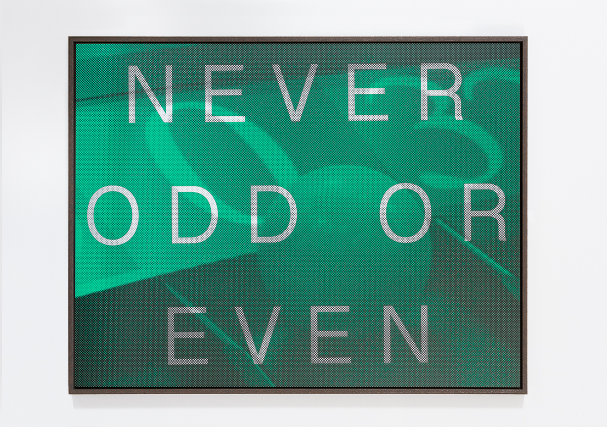 AGOM-0006 - Agostinelli, NEVER ODD OR EVEN (Roulette Zero), Matte ink on acrylic mirror, Ed 1:8, 155 x 120 cm, 2014:15.jpg