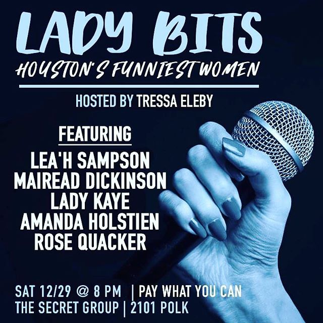 Come check out Houston's funniest women, tonight 8pm at The Secret Group HTX #thingstodohouston #comedy #comedian #standup #standupcomedy #cheapdrinks #houstonpress #funnywomen #saturday #houstontx #houston_insta #Houston #houstonnightlife #houstonevents #htown #htownights #979thebox #htx #montrose  #montrosehouston #eado #eadohouston #womenincomedy #houstoncomedy #texascomedy #houstonsaturdaynights #htownforreal #htownfinest #htowntakeover #htownsmistress