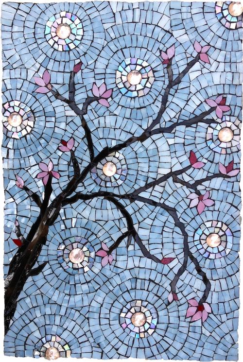 "Cherry Blossoms 9"" x 13.5"""