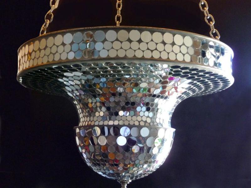 Art Deco Mirrorball Mosaic Lamp
