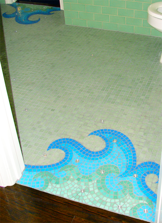 Waves Mosaic Floor