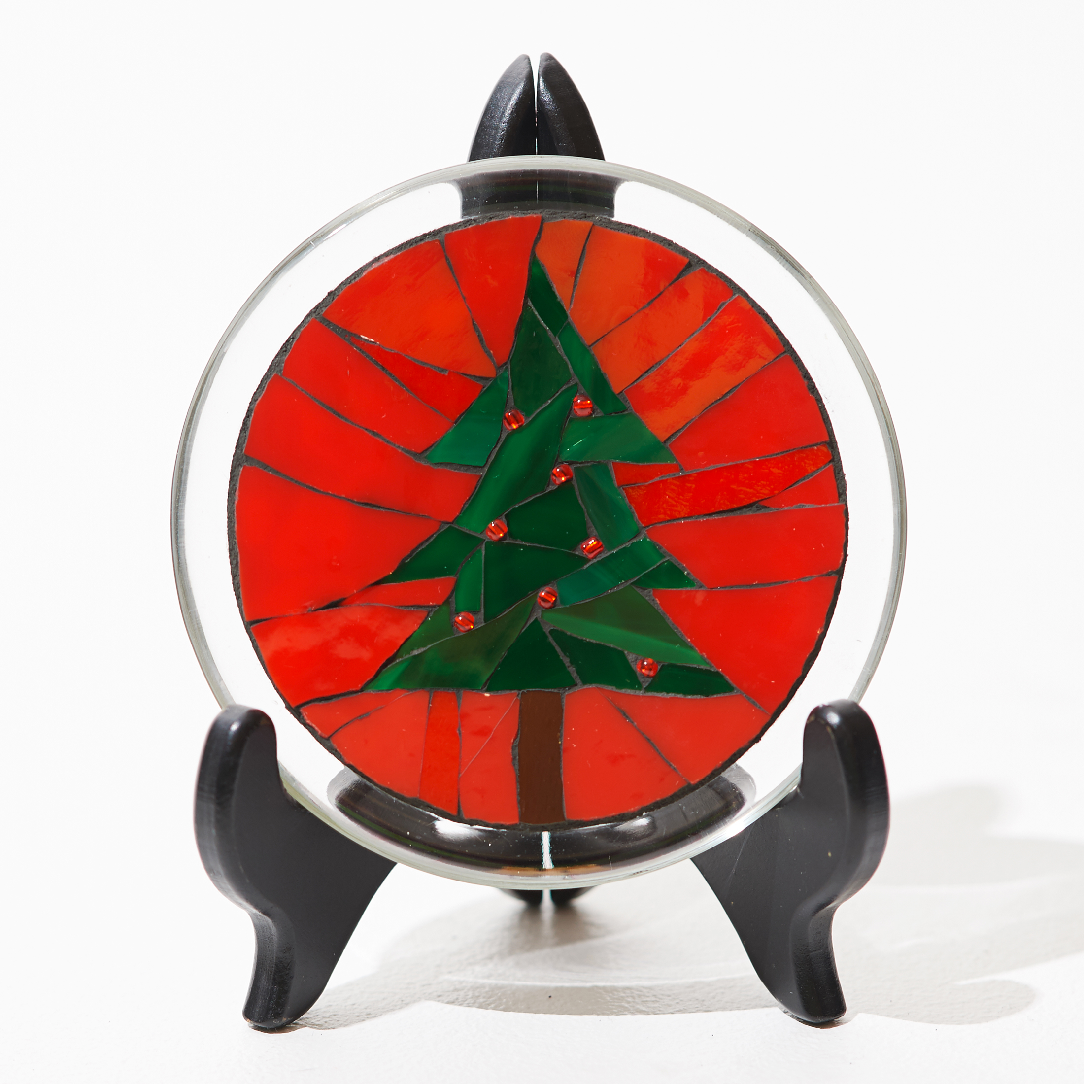Holiday Tree Mosaic Plate